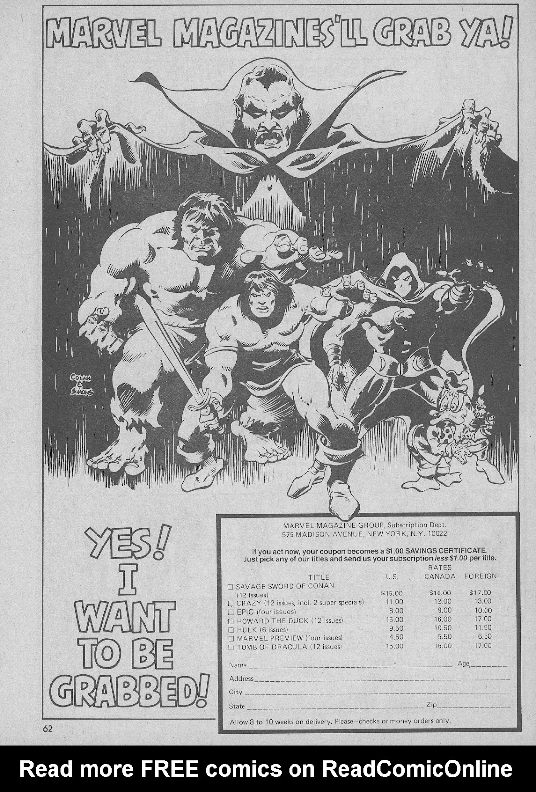 The Savage Sword Of Conan Issue #51 #52 - English 62
