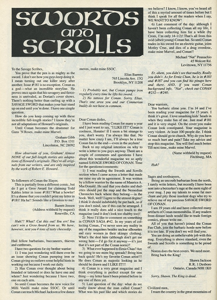 The Savage Sword Of Conan Issue #185 #186 - English 64