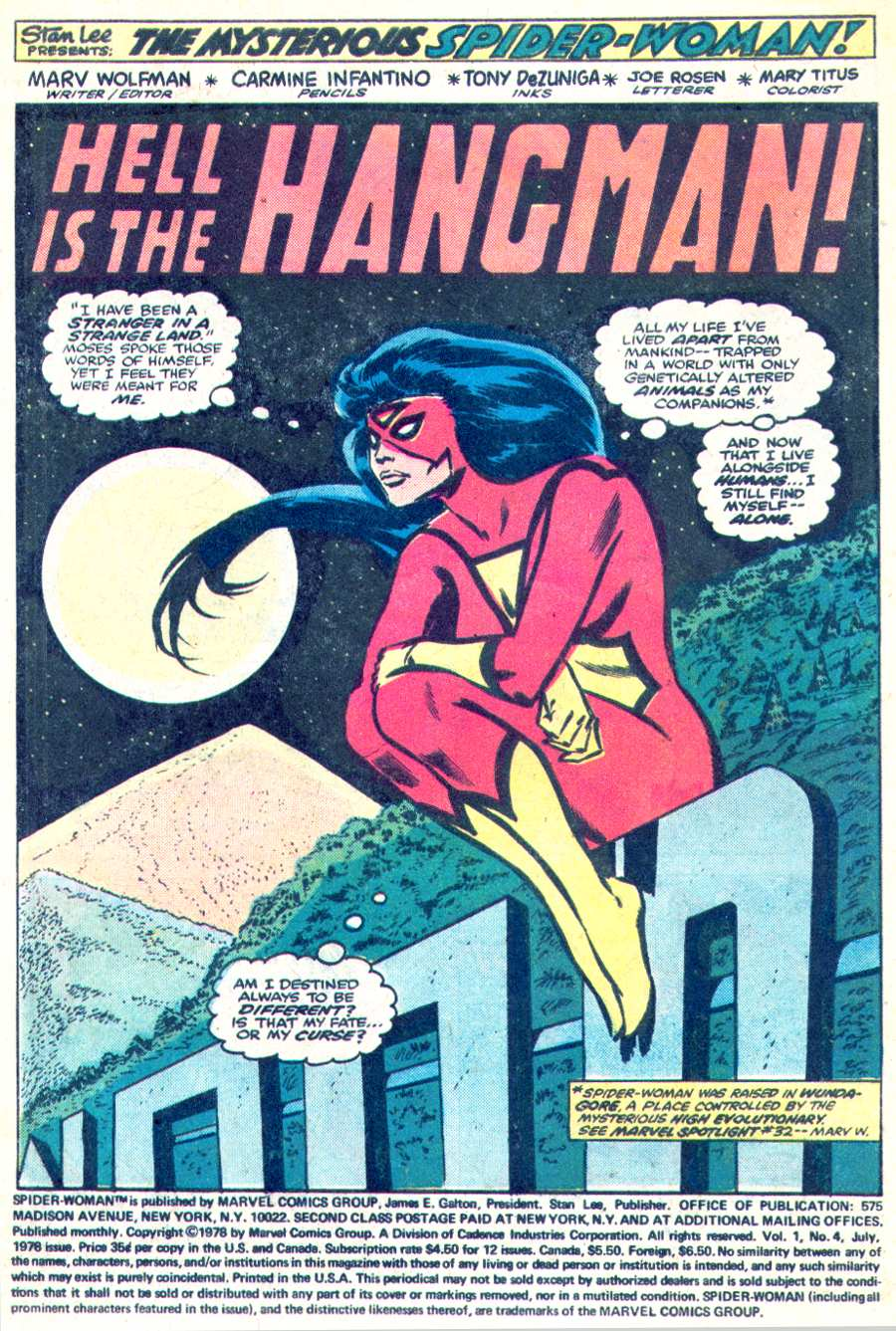 Spider-Woman (1978) Issue #4 #4 - English 2