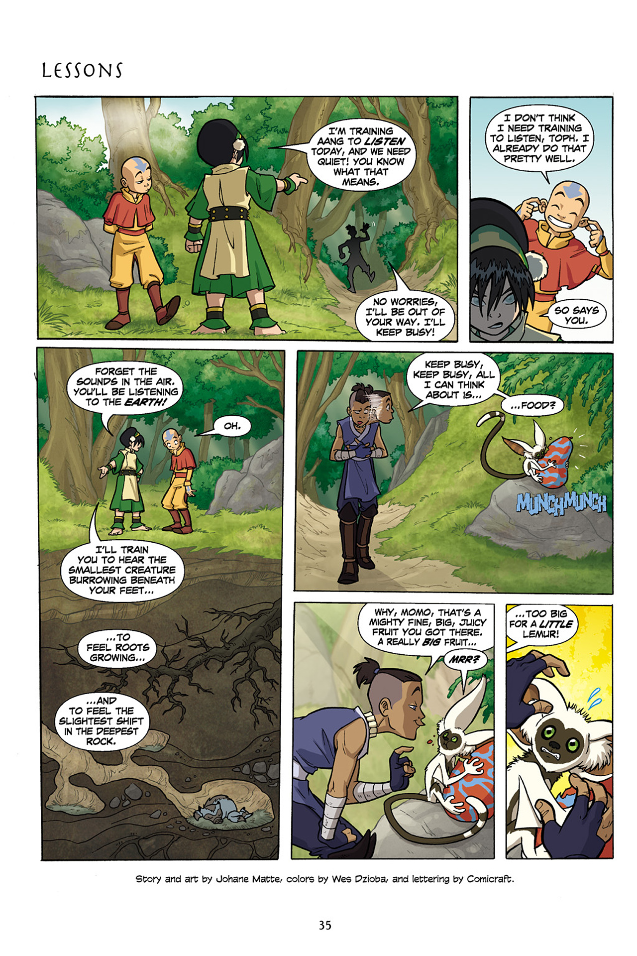 Nickelodeon Avatar: The Last Airbender - The Lost Adventures chap full pic 36