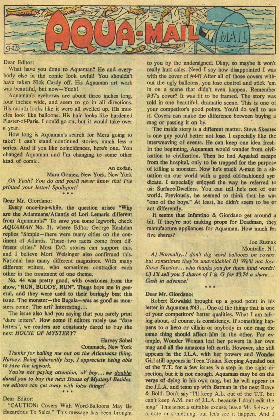 Aquaman (1962) Issue #46 #46 - English 32