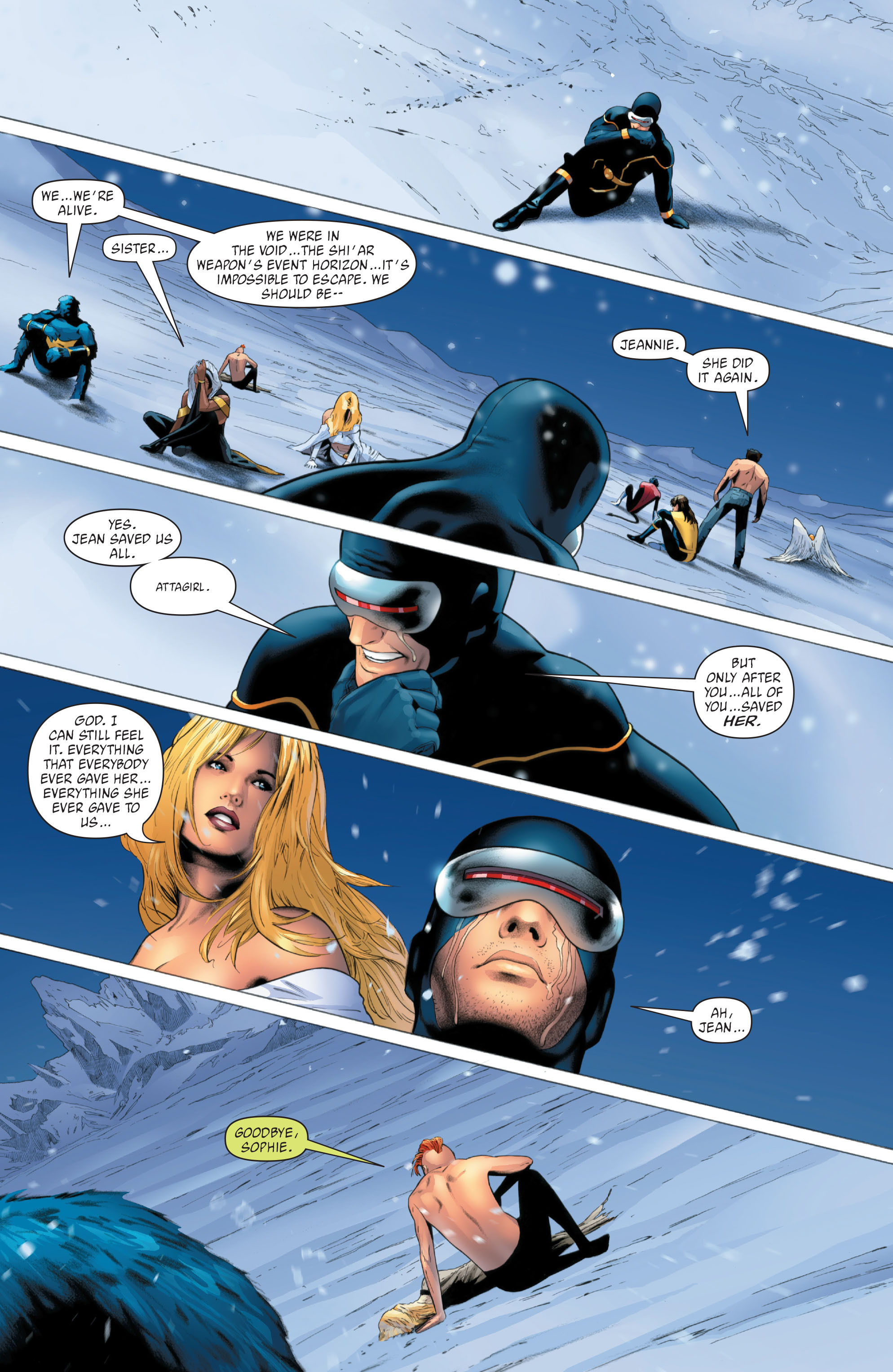 Read online X-Men: Phoenix - Endsong comic -  Issue #5 - 22