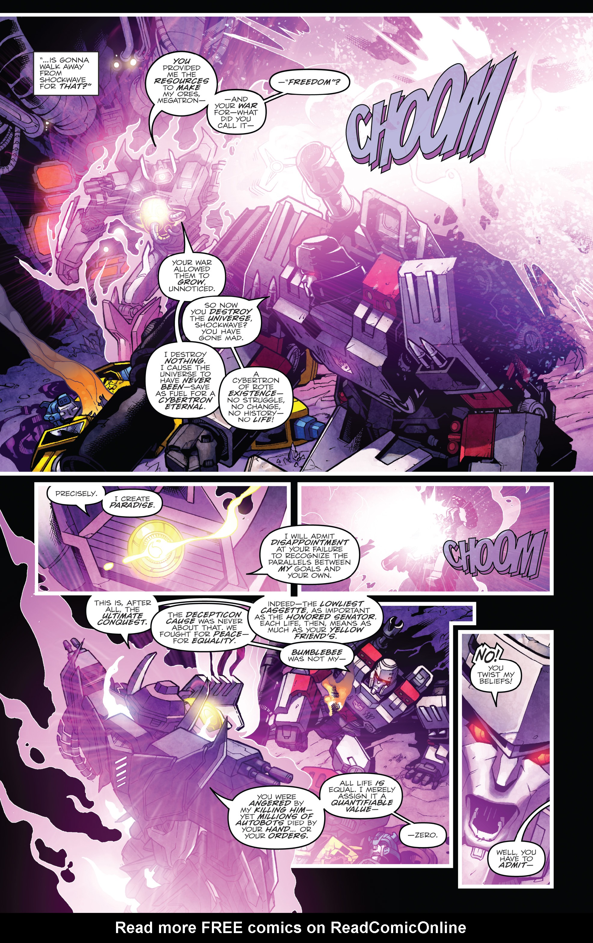 Read online The Transformers: Dark Cybertron Finale comic -  Issue # Full - 130
