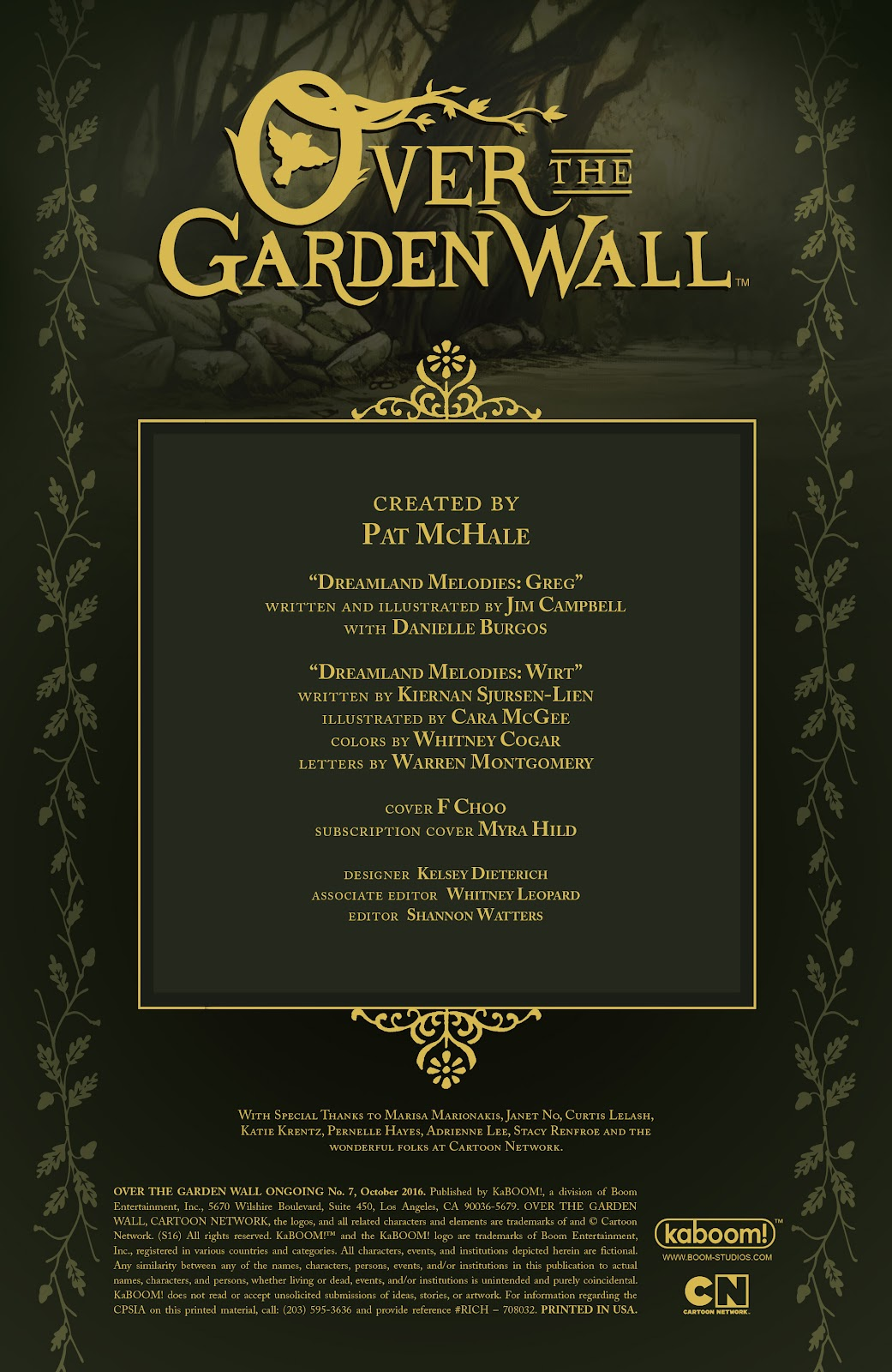 Over the Garden Wall (2016) Issue #7 #7 - English 2