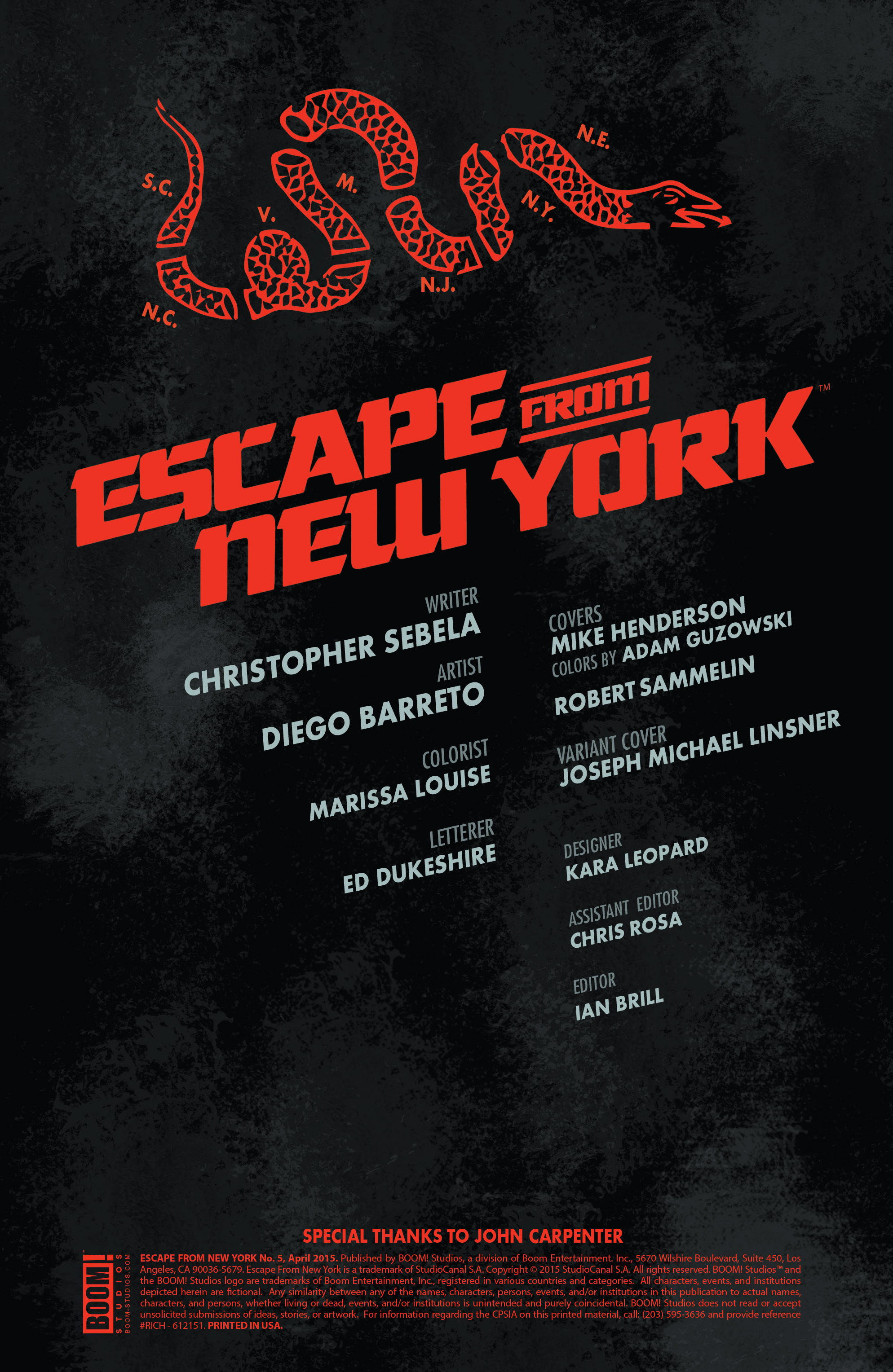 Read online Escape from New York comic -  Issue #5 - 2