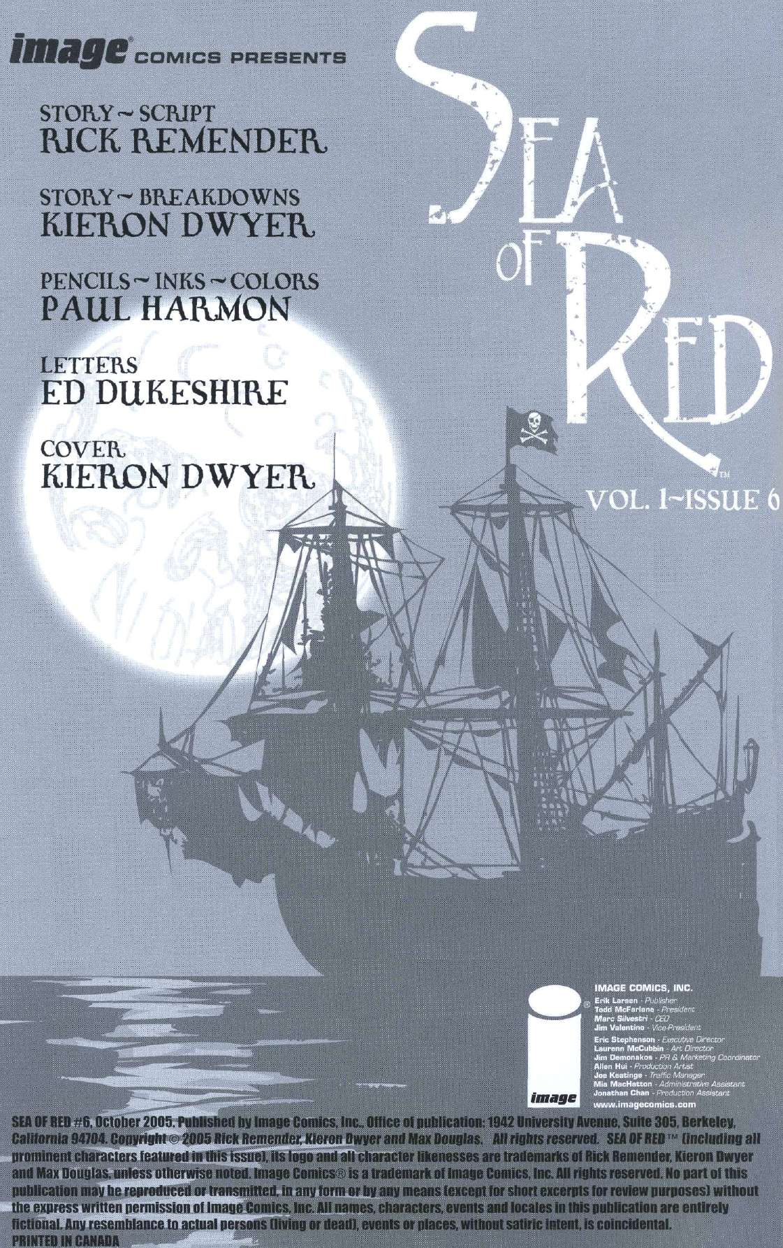 Read online Sea of Red comic -  Issue #6 - 2
