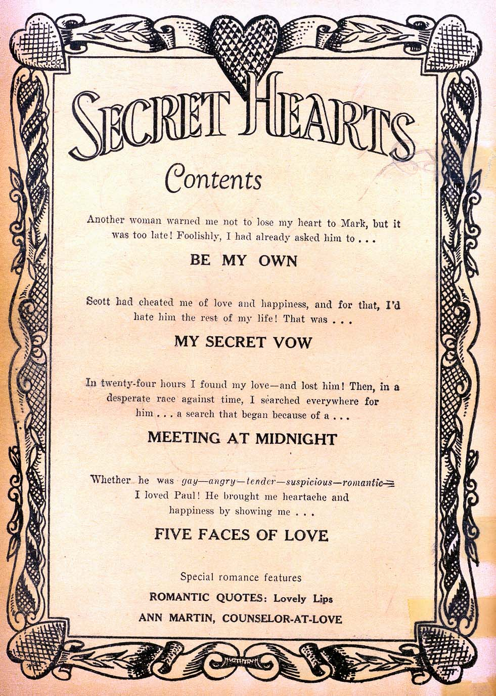 Read online Secret Hearts comic -  Issue #11 - 2