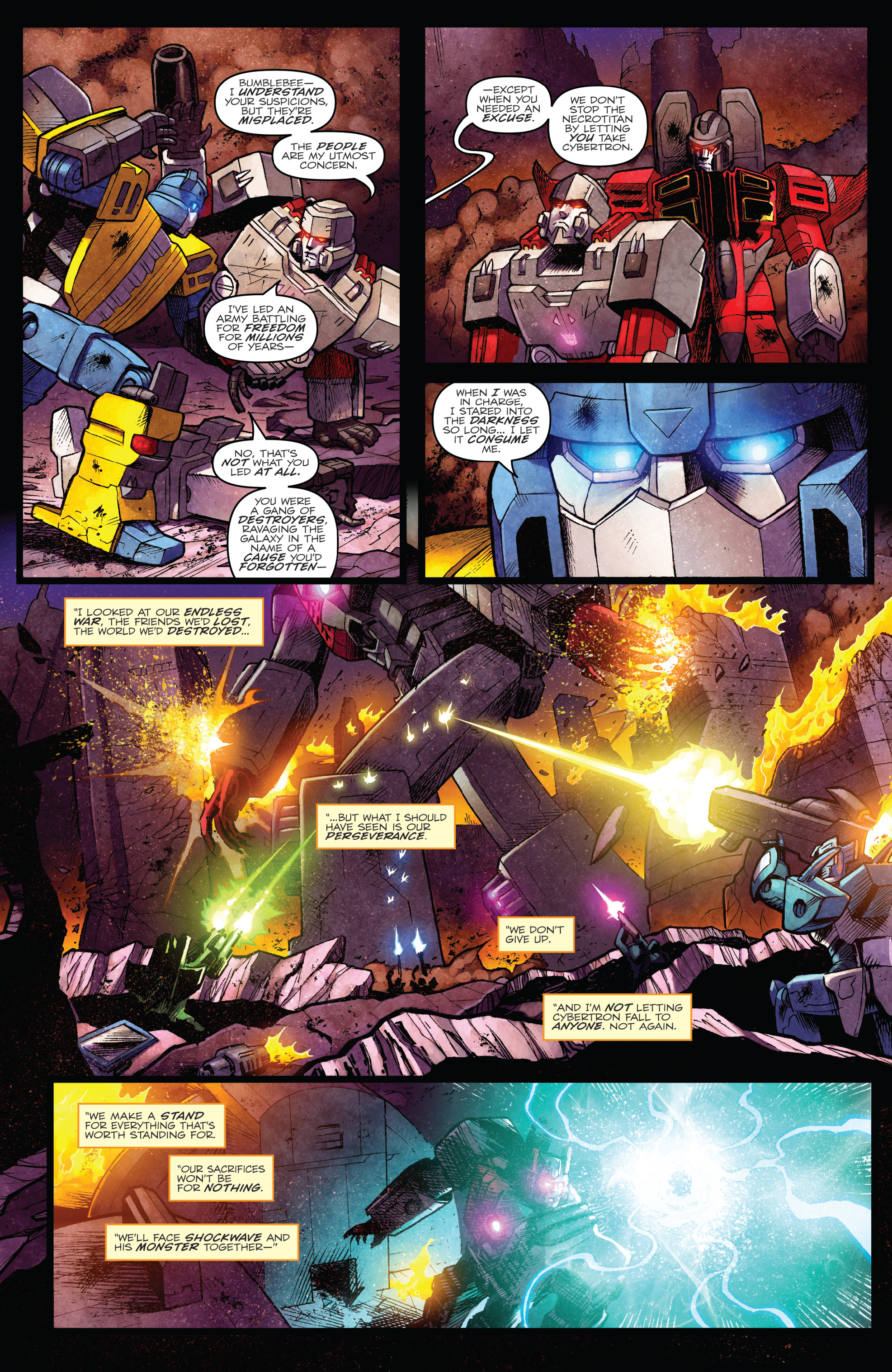 Read online The Transformers: Dark Cybertron Finale comic -  Issue # Full - 50