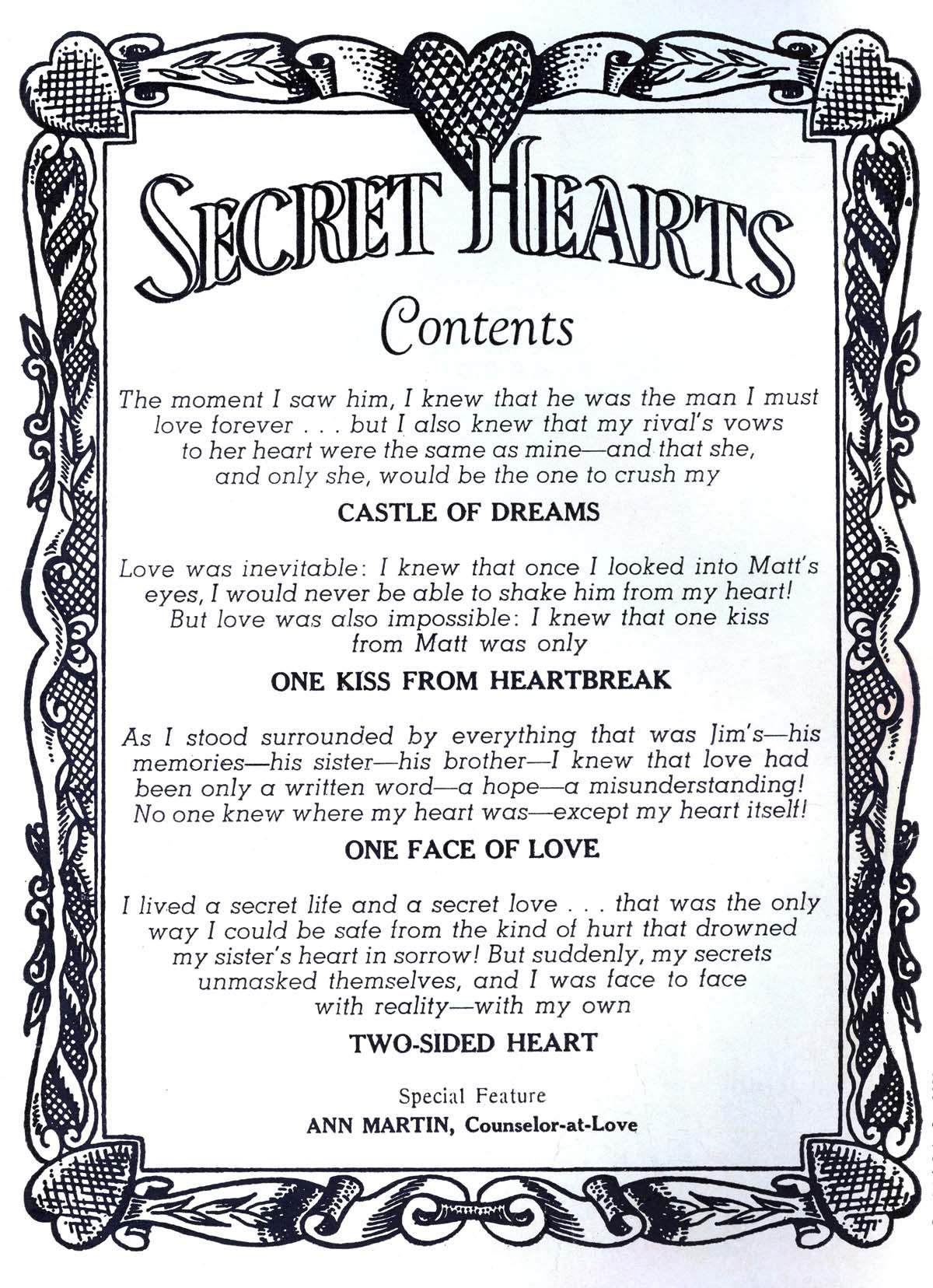 Read online Secret Hearts comic -  Issue #56 - 2