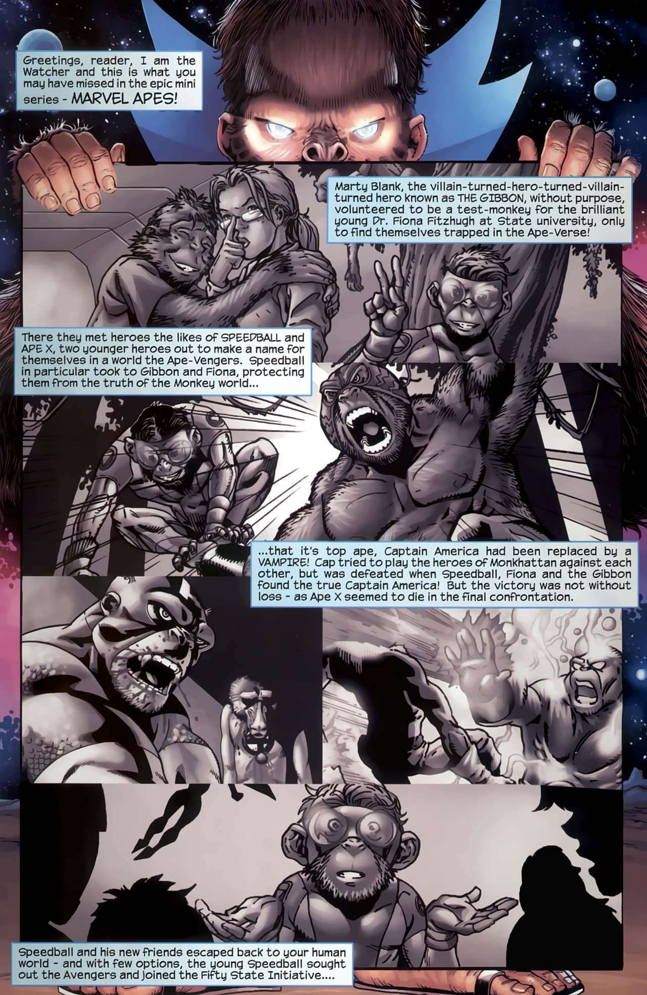 Read online Marvel Apes: Speedball Special comic -  Issue # Full - 2