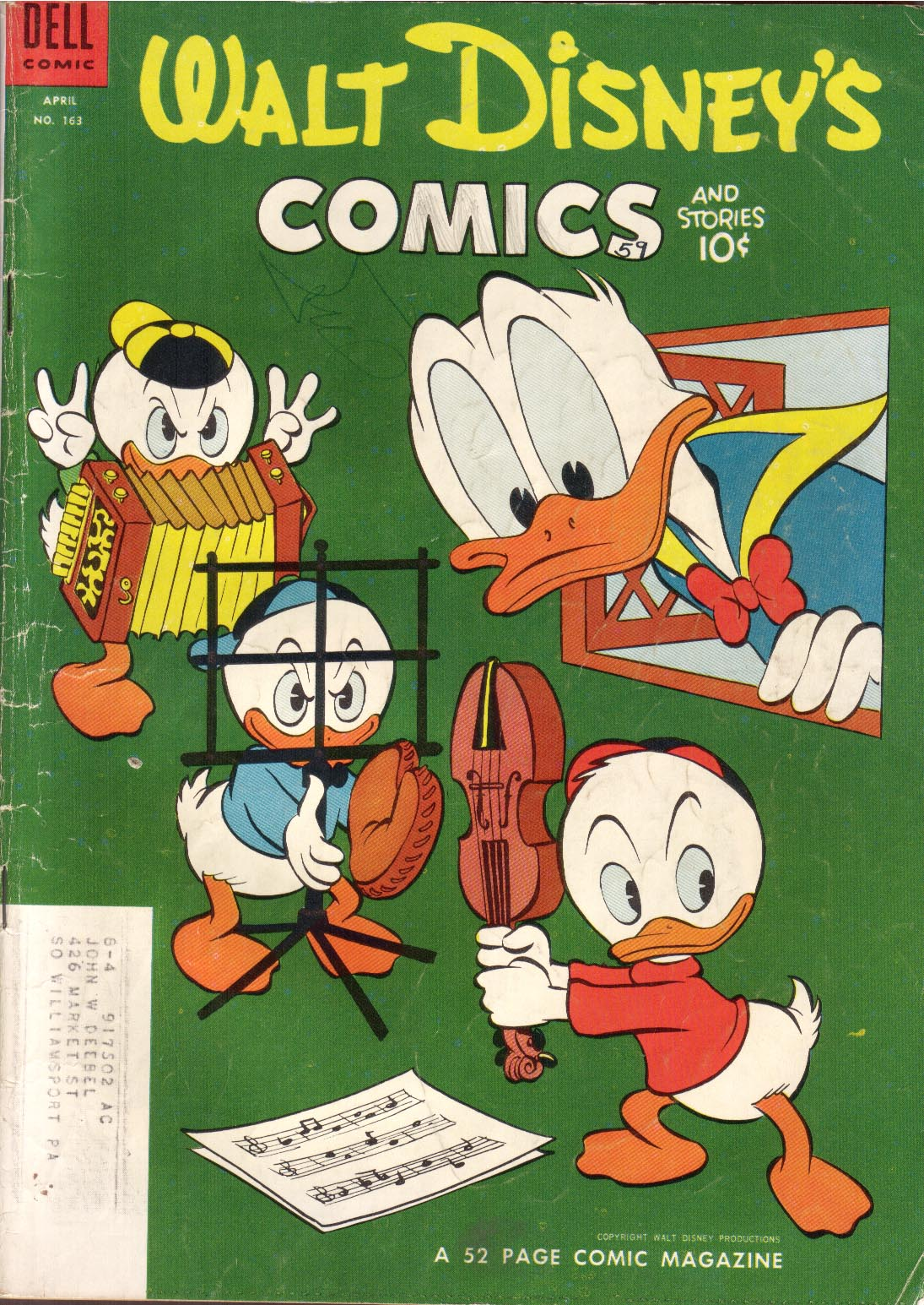 Walt Disneys Comics and Stories 163 Page 1
