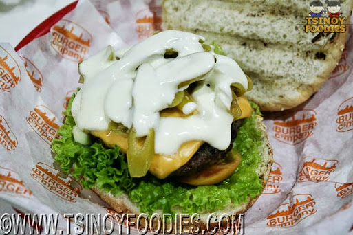 green chile sour cream burger