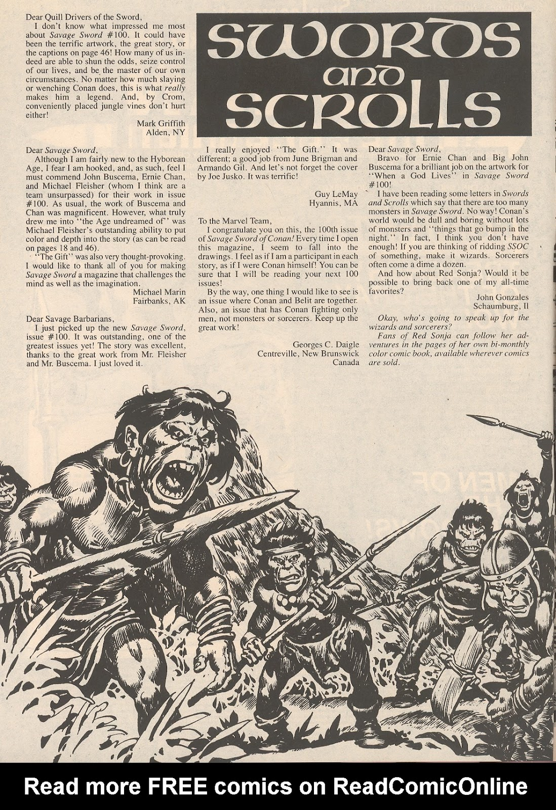 The Savage Sword Of Conan Issue #104 #105 - English 4