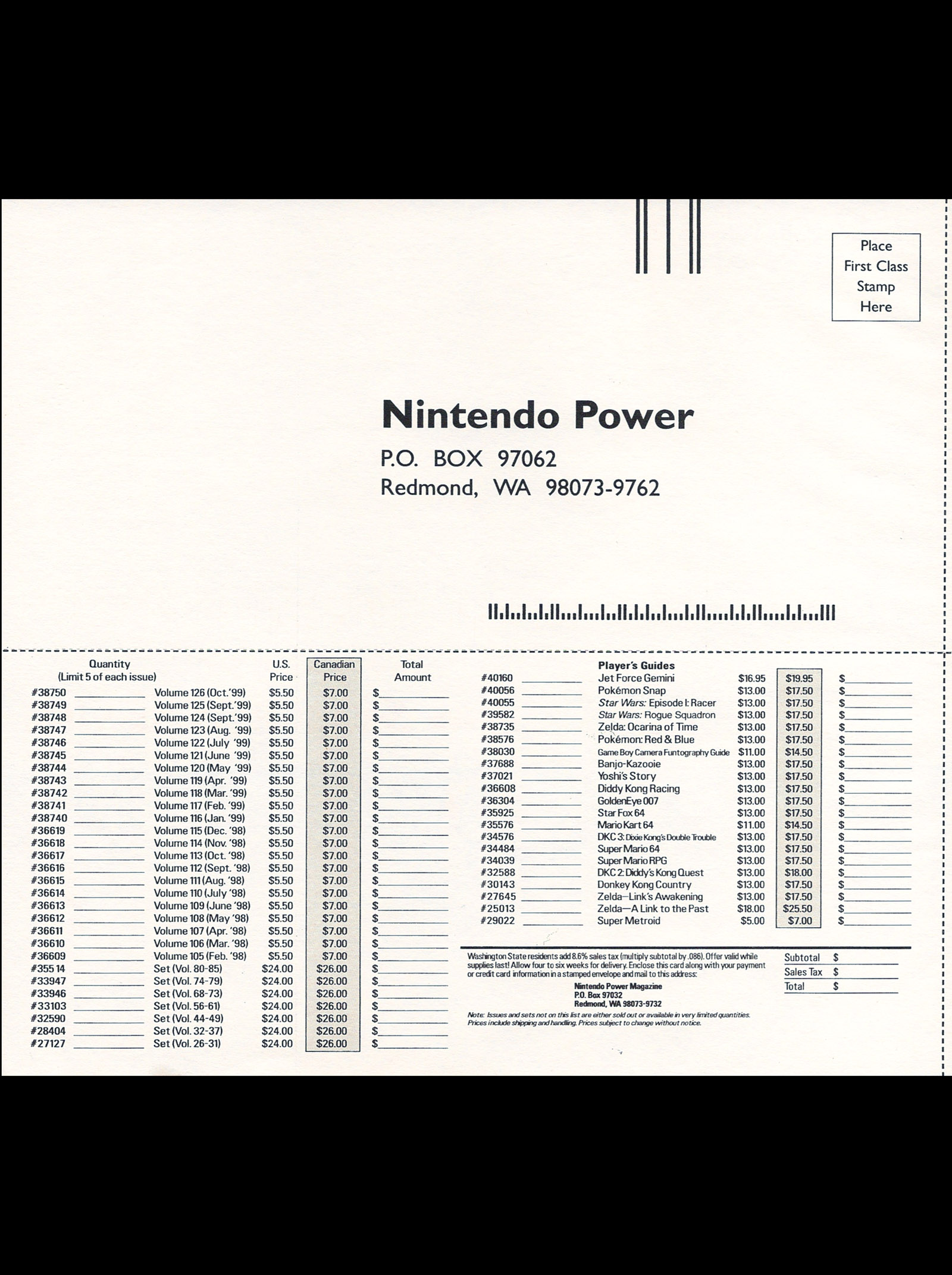 Nintendo Power #127 #127 - English 123