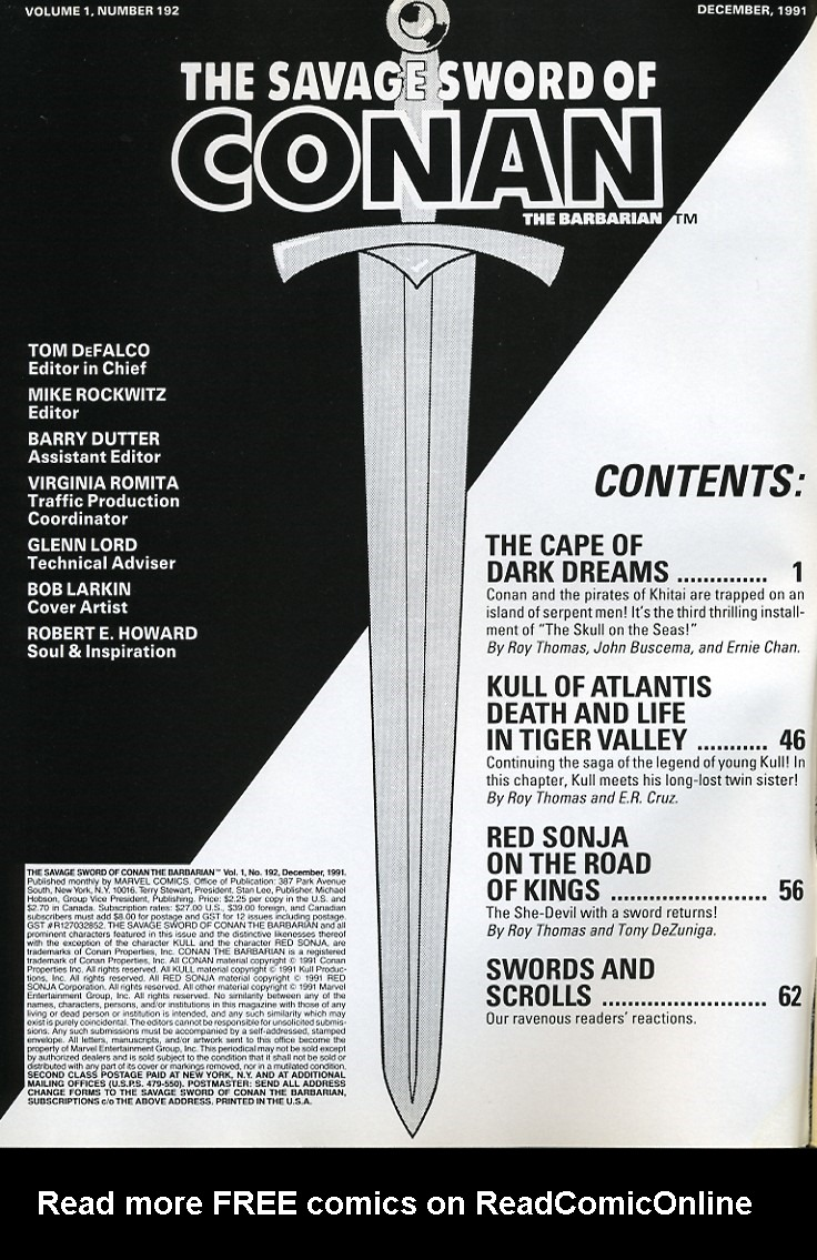 The Savage Sword Of Conan Issue #192 #193 - English 2