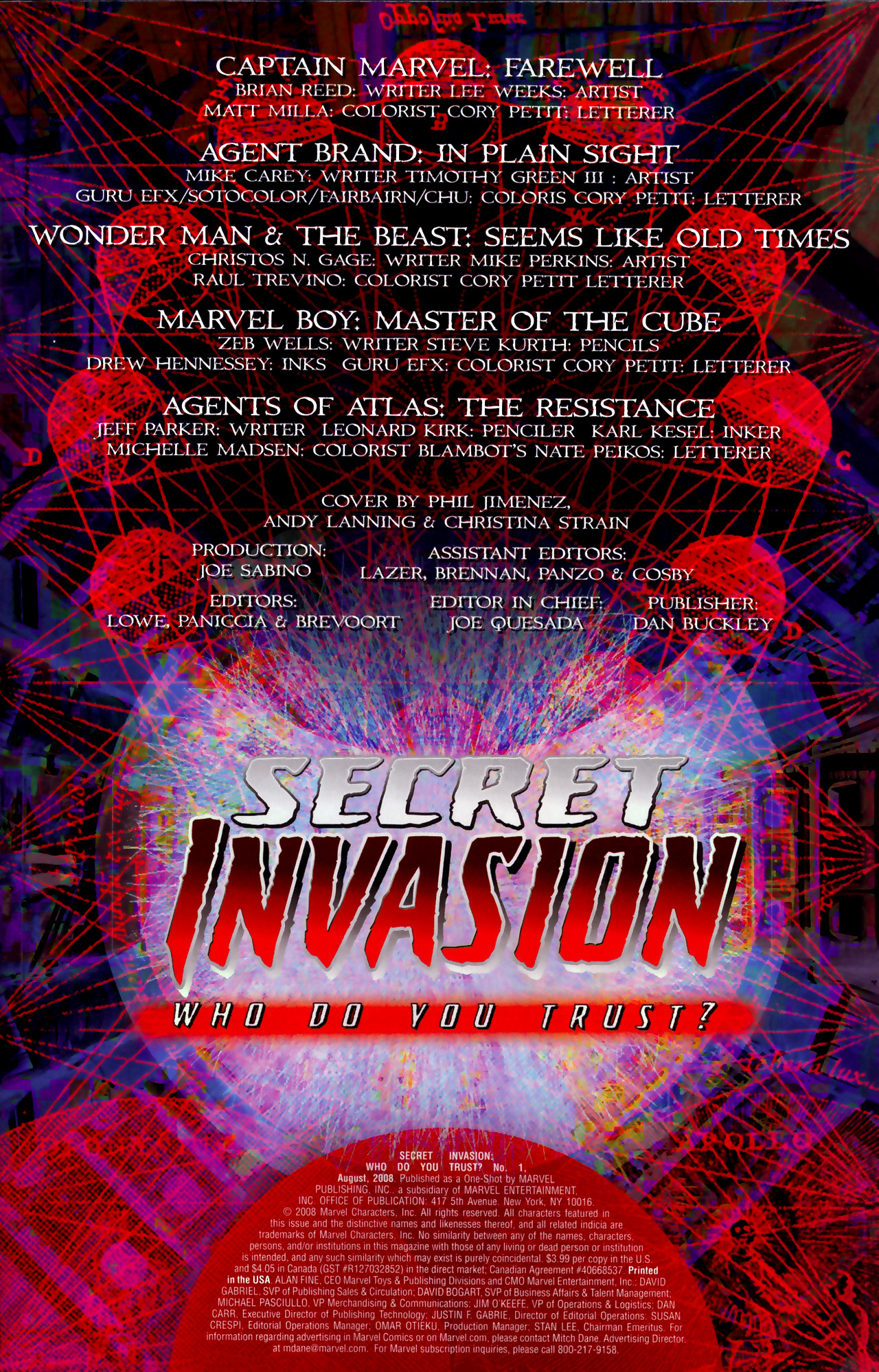 Read online Secret Invasion: Who Do You Trust? comic -  Issue # Full - 4