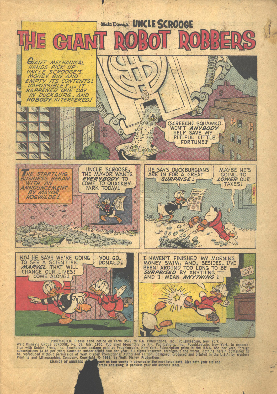 Uncle Scrooge (1953) Issue #58 #58 - English 3