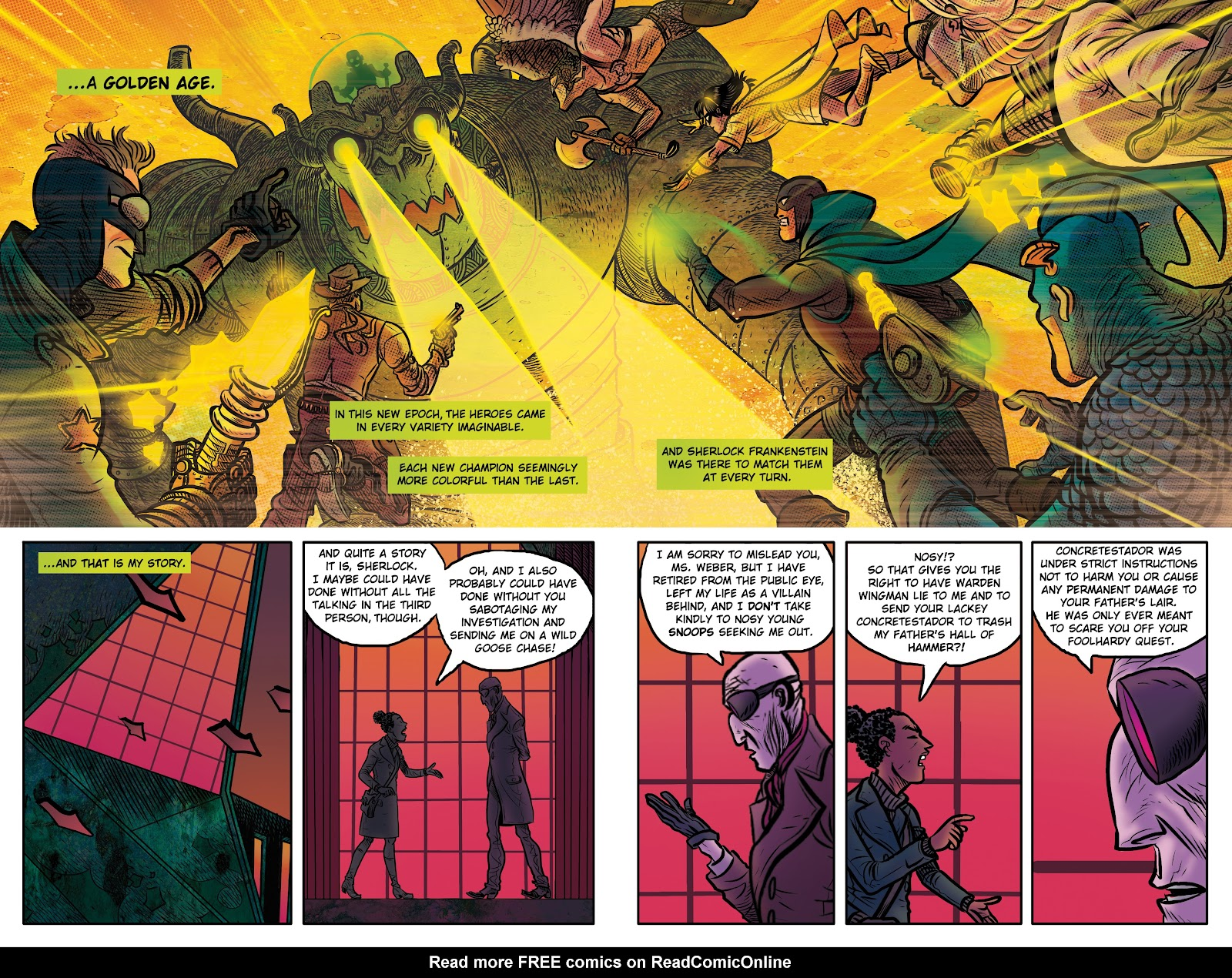 Read online Sherlock Frankenstein and the Legion of Evil comic -  Issue #4 - 8