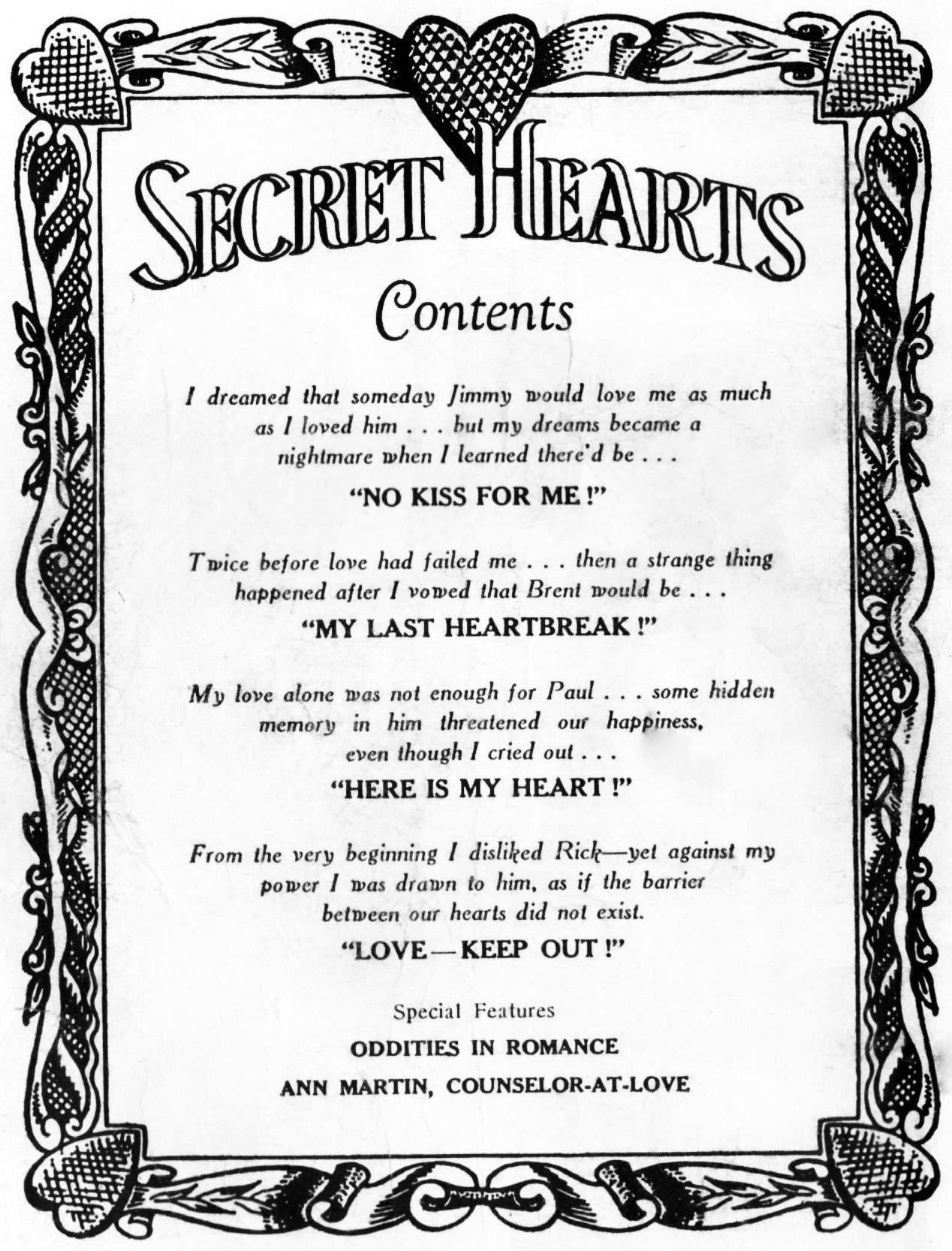 Read online Secret Hearts comic -  Issue #31 - 2