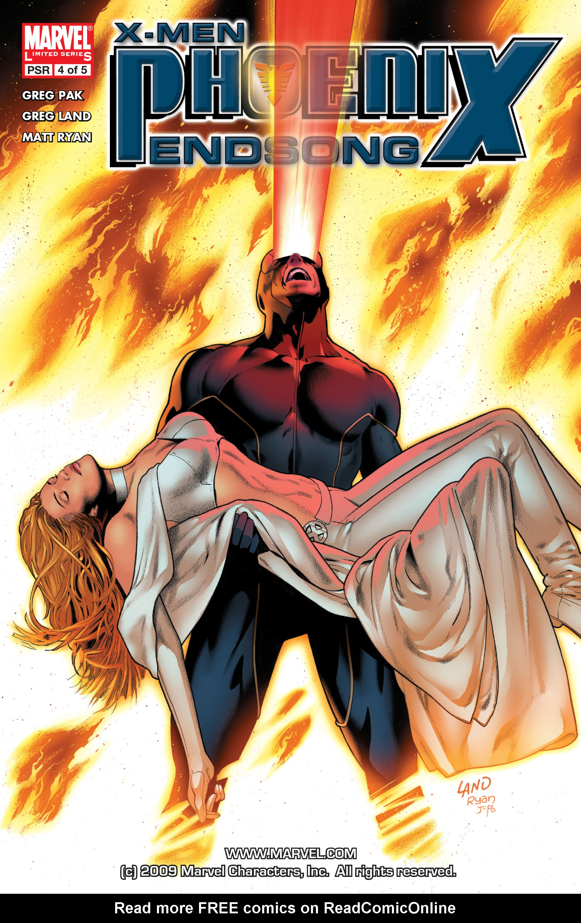 Read online X-Men: Phoenix - Endsong comic -  Issue #4 - 1