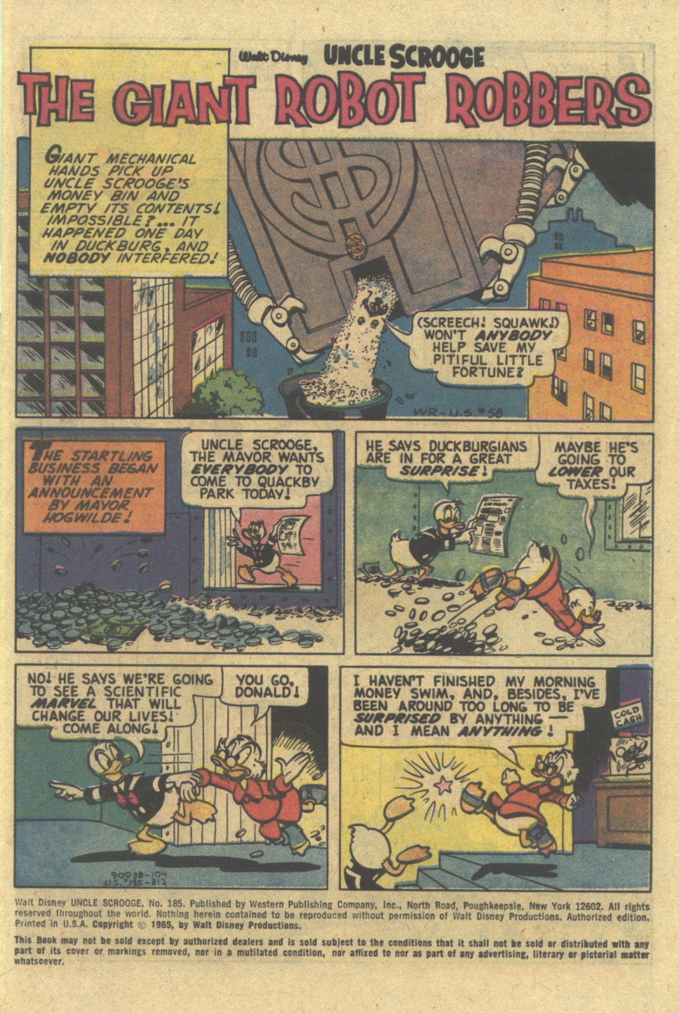 Uncle Scrooge (1953) Issue #185 #185 - English 3