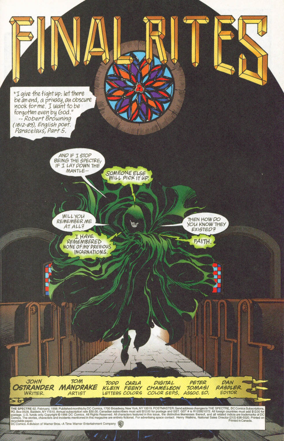 The Spectre (1992) #62 #64 - English 2