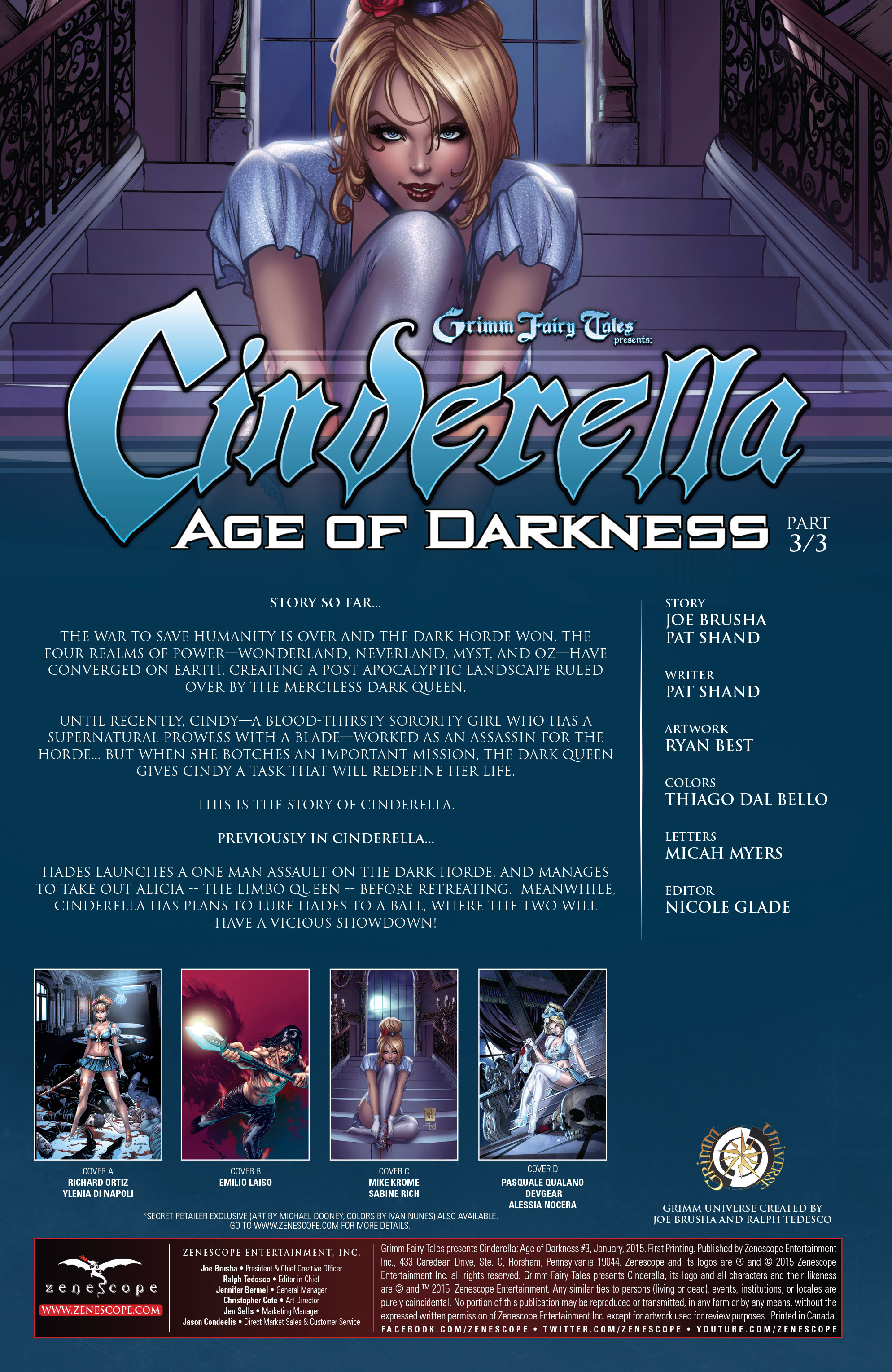 Read online Grimm Fairy Tales presents Cinderella: Age of Darkness comic -  Issue #3 - 2