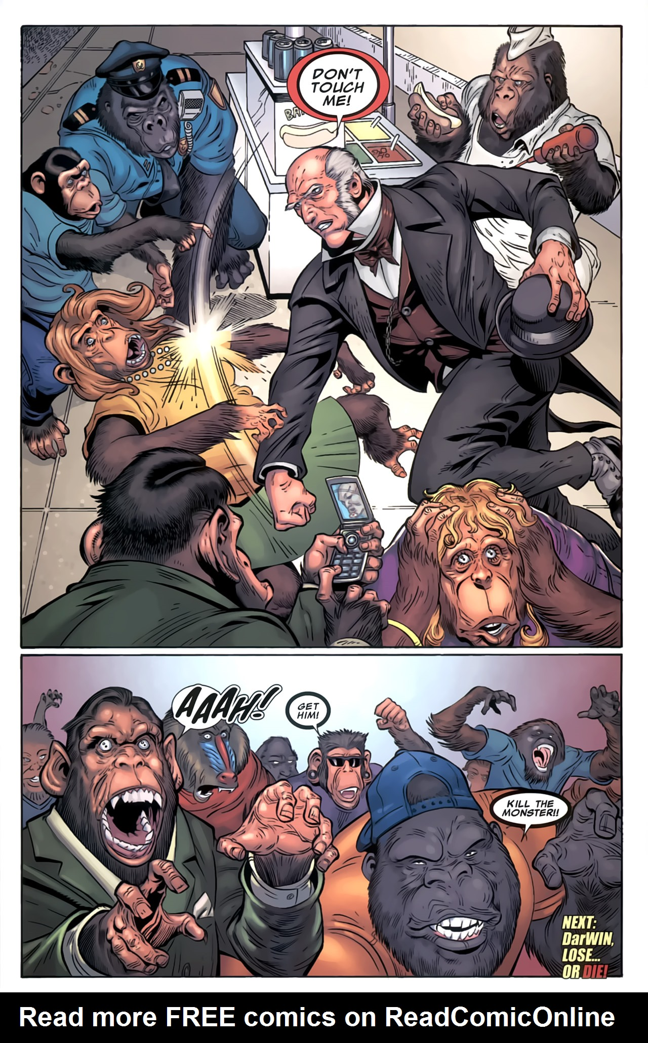 Read online Marvel Apes: Speedball Special comic -  Issue # Full - 38