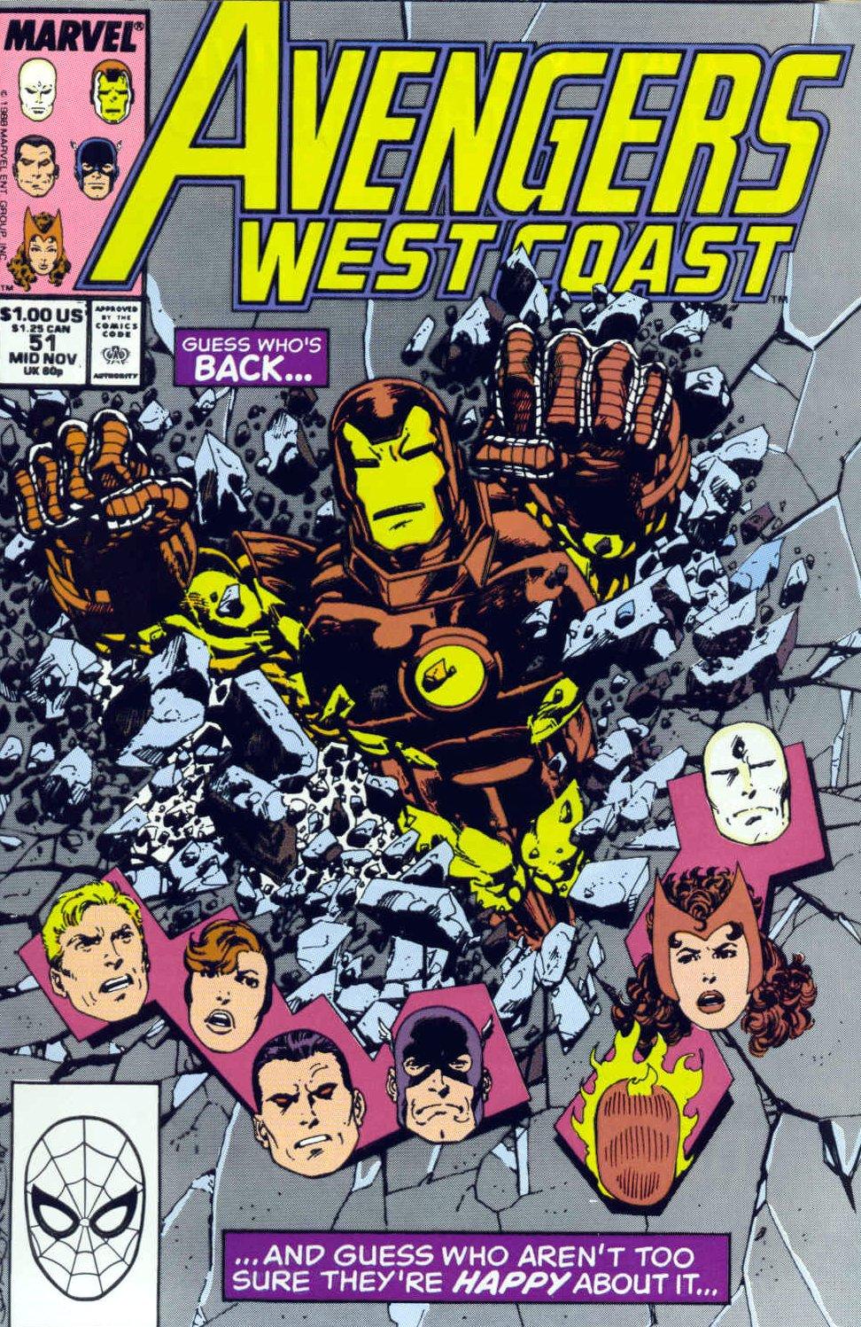 Avengers West Coast (1989) 51 Page 1