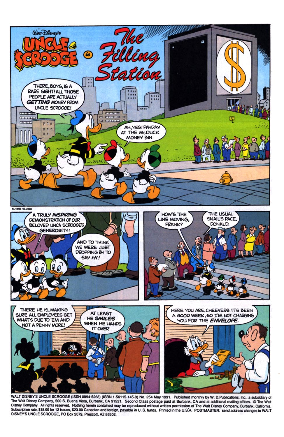 Uncle Scrooge (1953) Issue #254 #254 - English 2