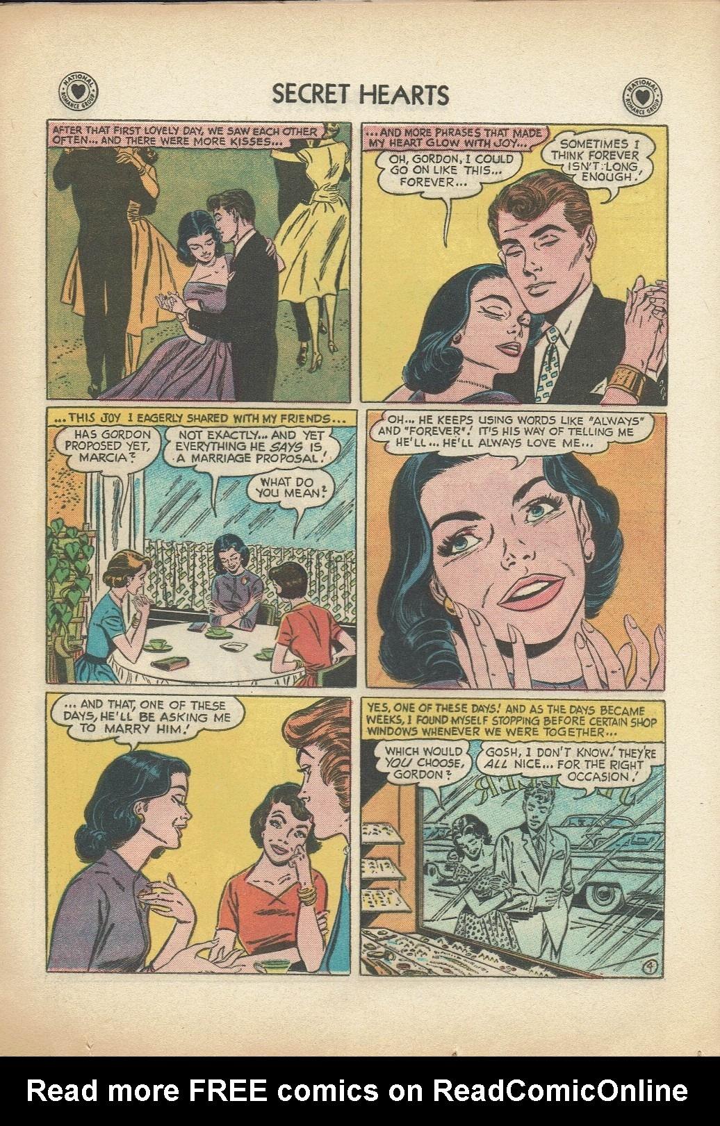 Read online Secret Hearts comic -  Issue #47 - 21