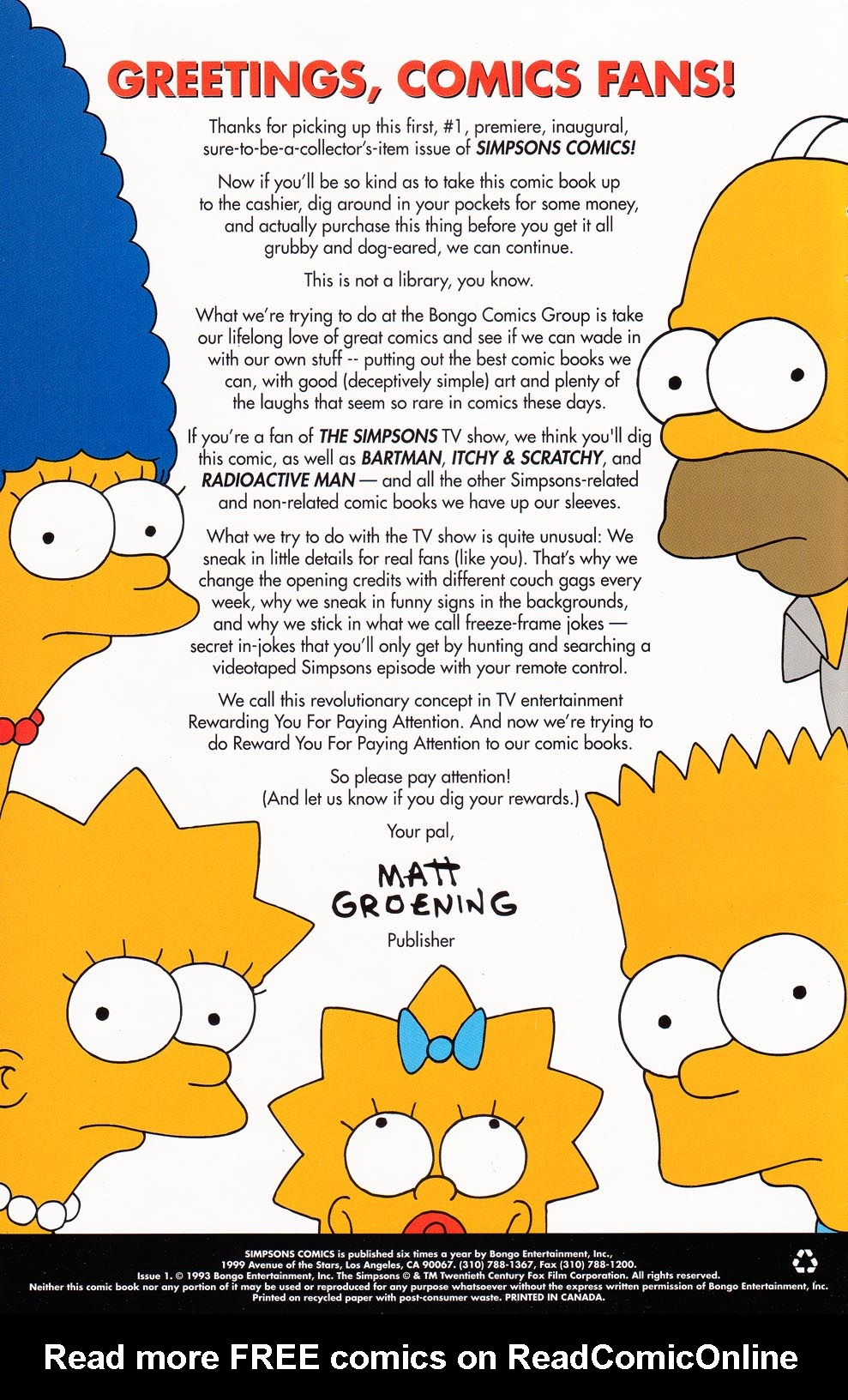 Read online Simpsons Comics comic -  Issue #1 - 2