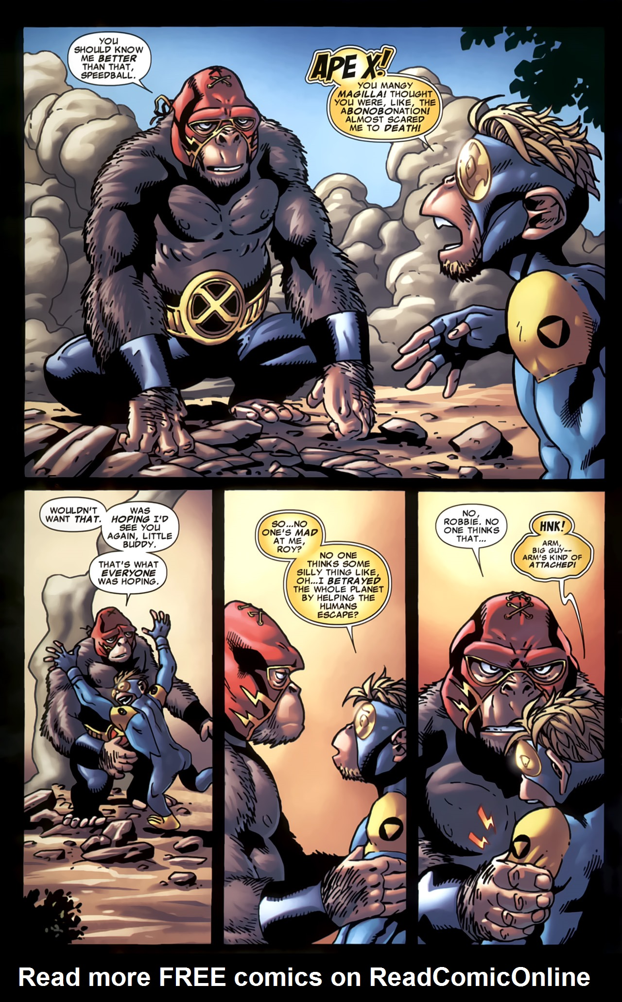 Read online Marvel Apes: Speedball Special comic -  Issue # Full - 5