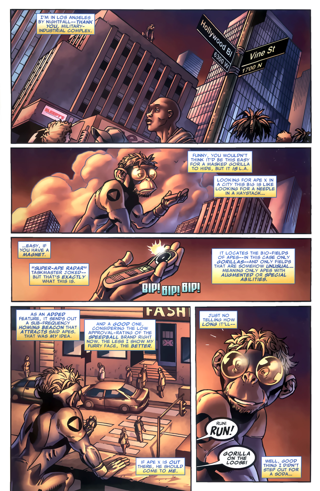 Read online Marvel Apes: Speedball Special comic -  Issue # Full - 17
