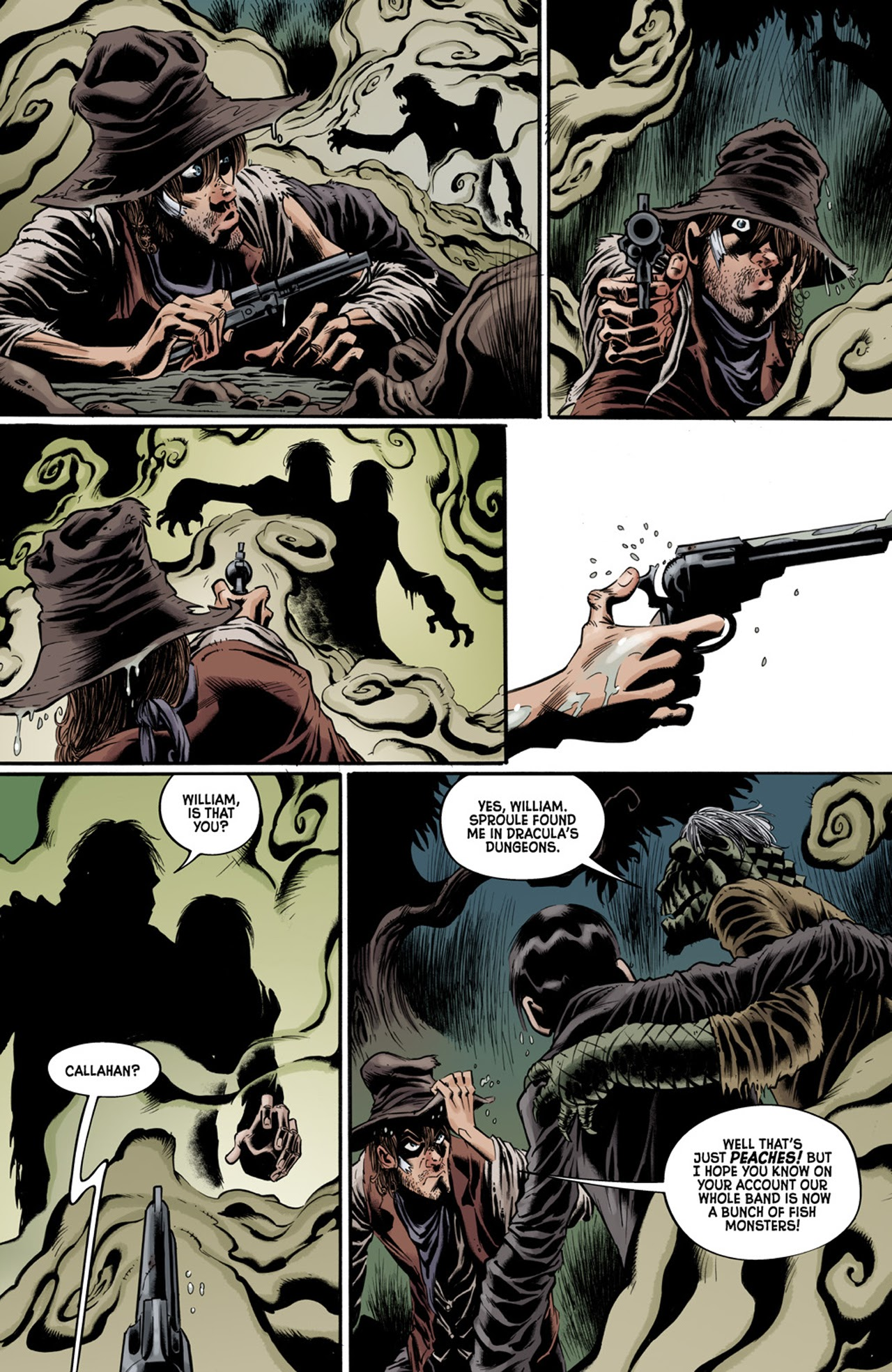 Read online Billy the Kid's Old Timey Oddities and the Orm of Loch Ness comic -  Issue #3 - 12
