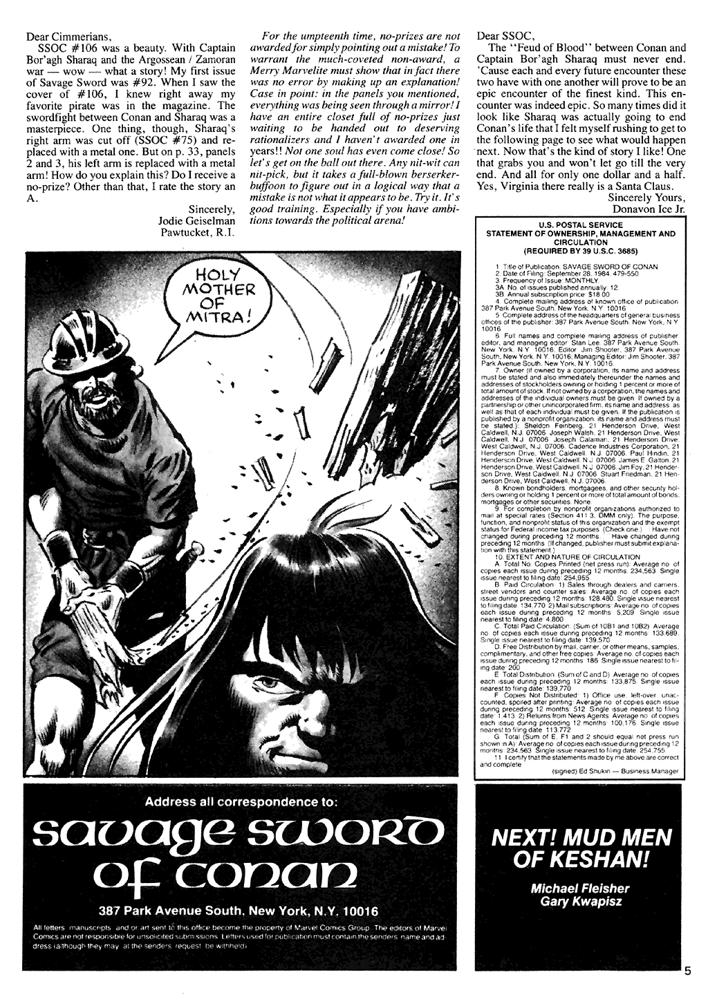 The Savage Sword Of Conan Issue #110 #111 - English 6