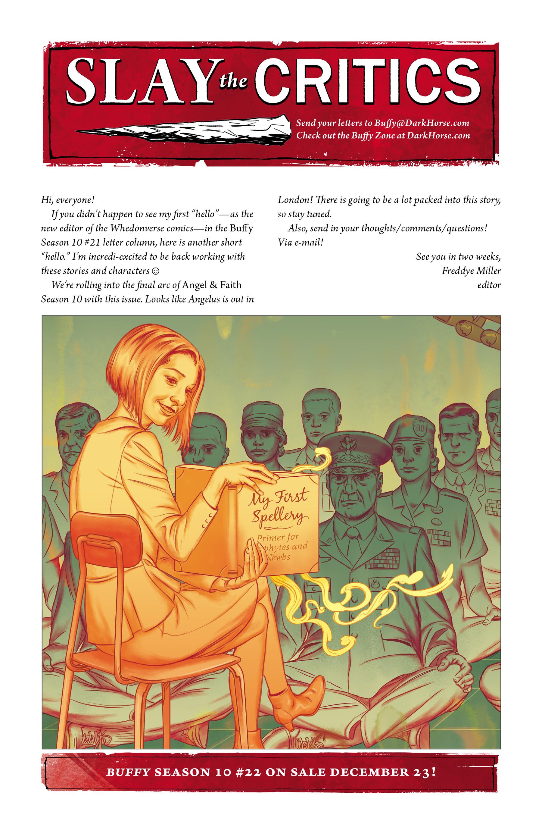 Read online Angel & Faith Season 10 comic -  Issue #21 - 25