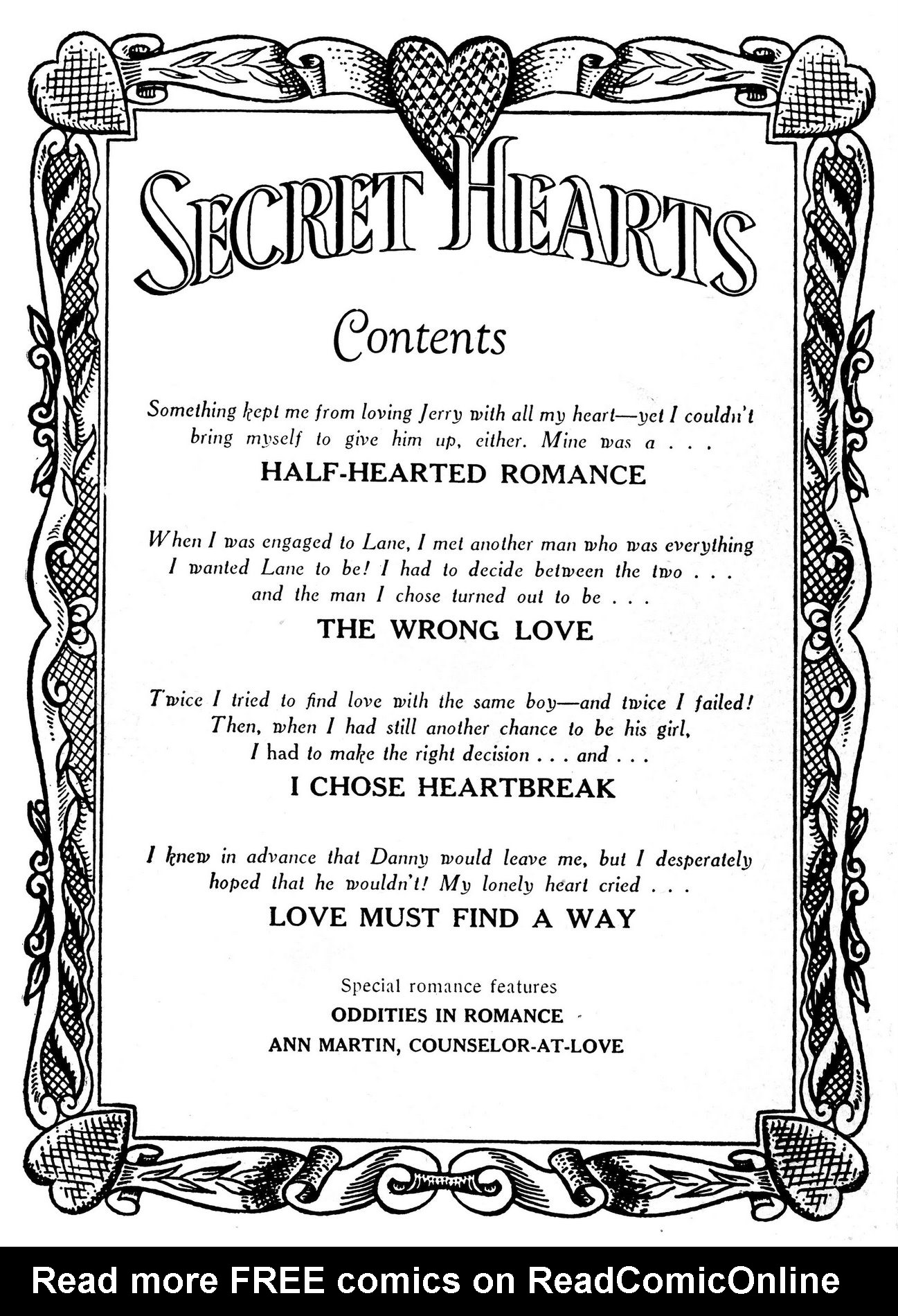 Read online Secret Hearts comic -  Issue #18 - 2