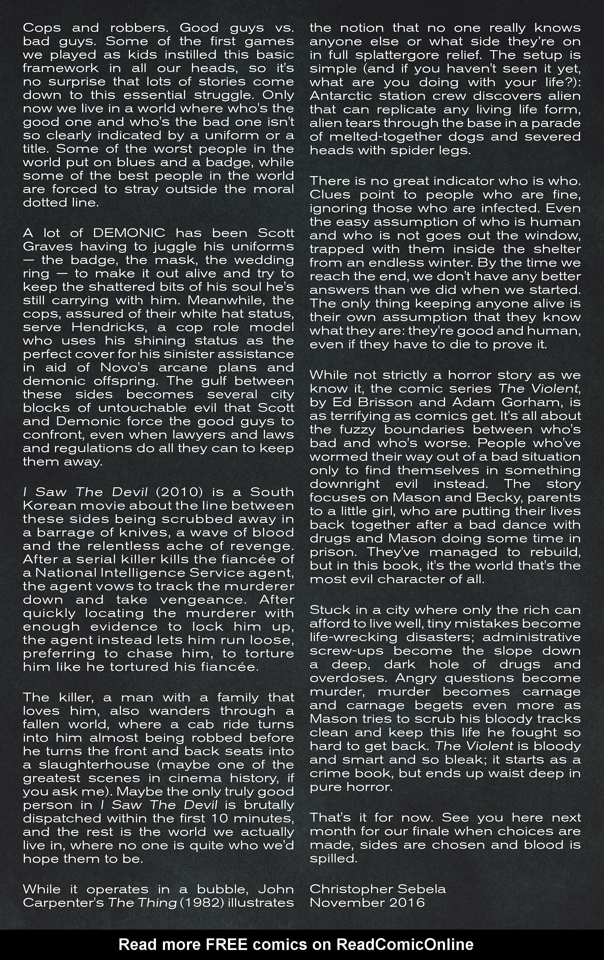 Read online Demonic comic -  Issue #5 - 23