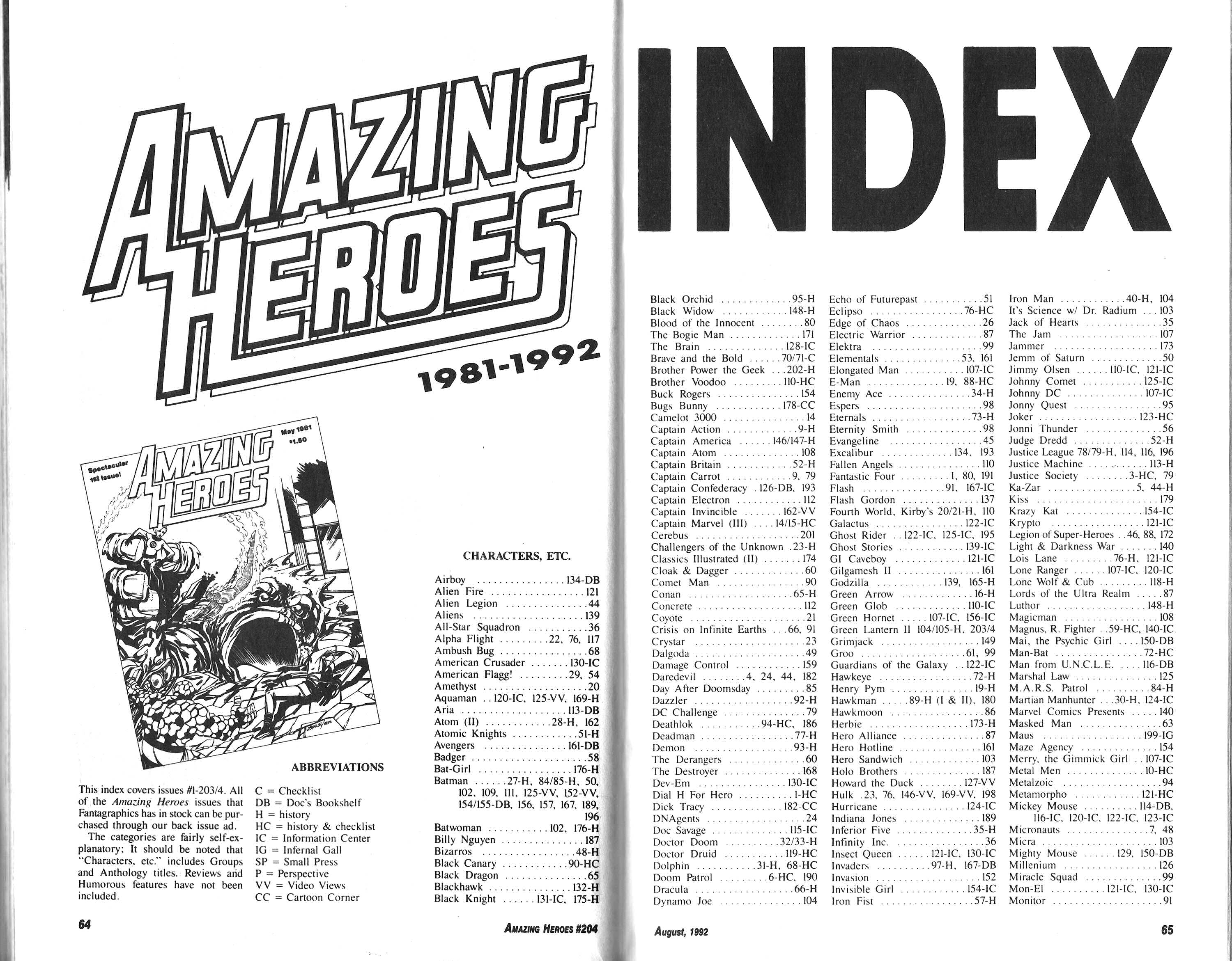 Read online Amazing Heroes comic -  Issue #204 - 33