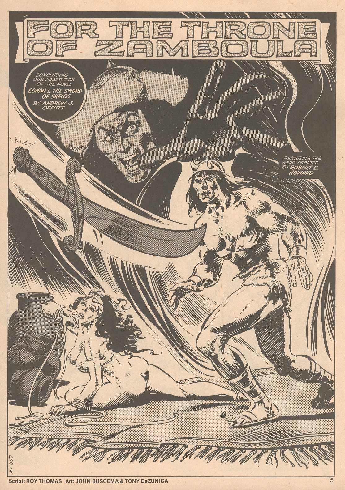The Savage Sword Of Conan Issue #58 #59 - English 5