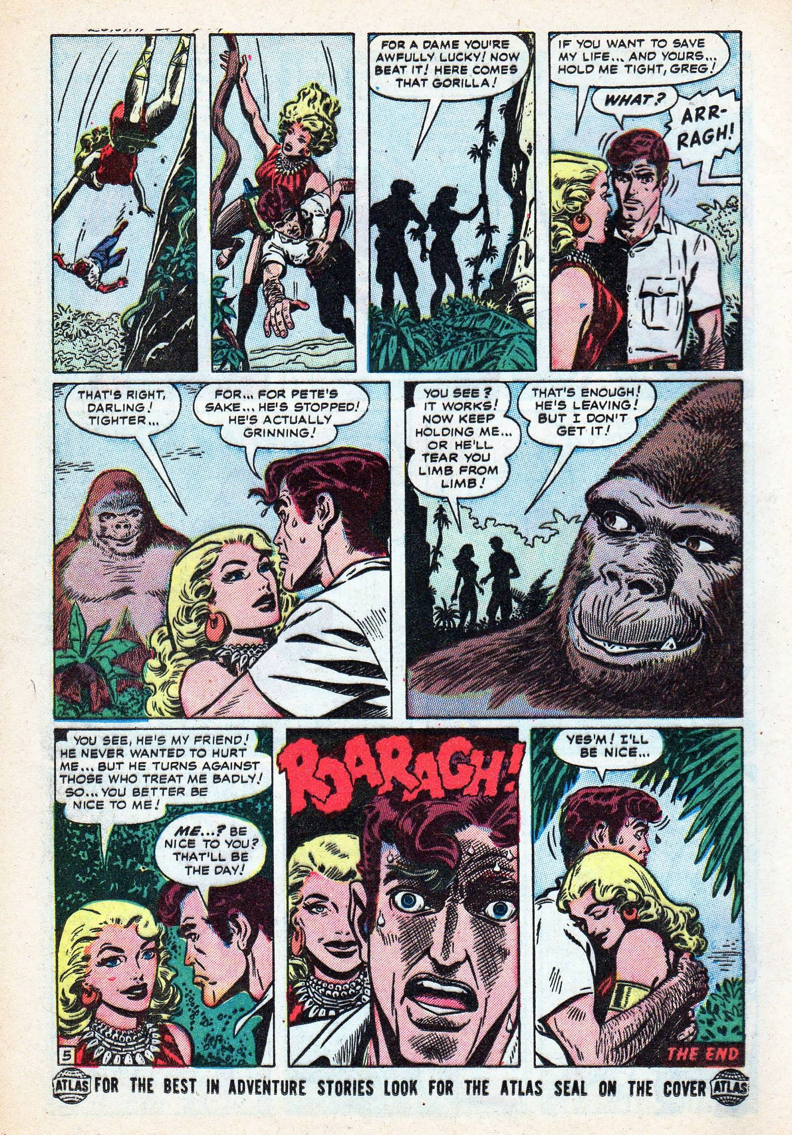 Read online Lorna, The Jungle Queen comic -  Issue #3 - 16