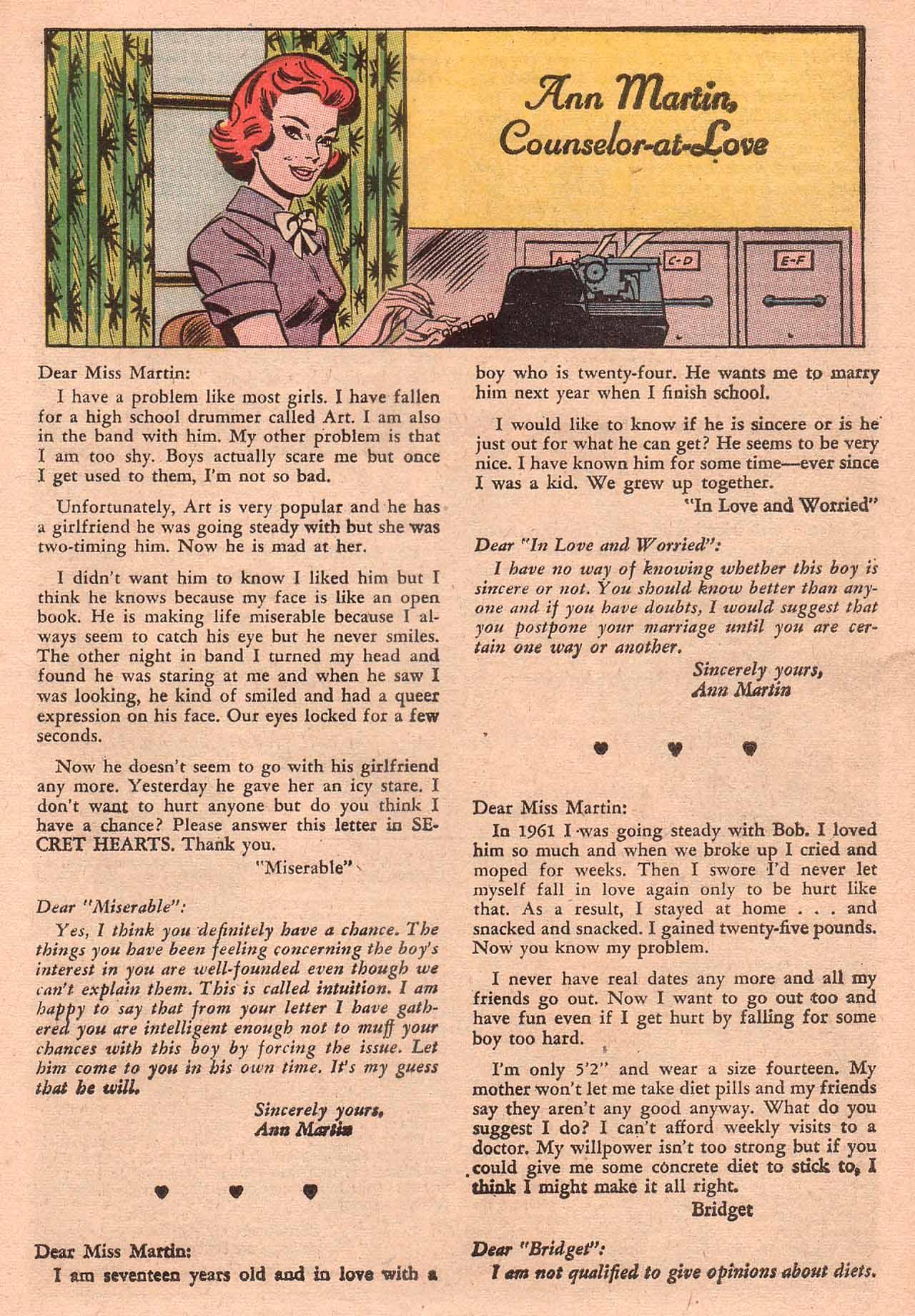 Read online Secret Hearts comic -  Issue #94 - 25