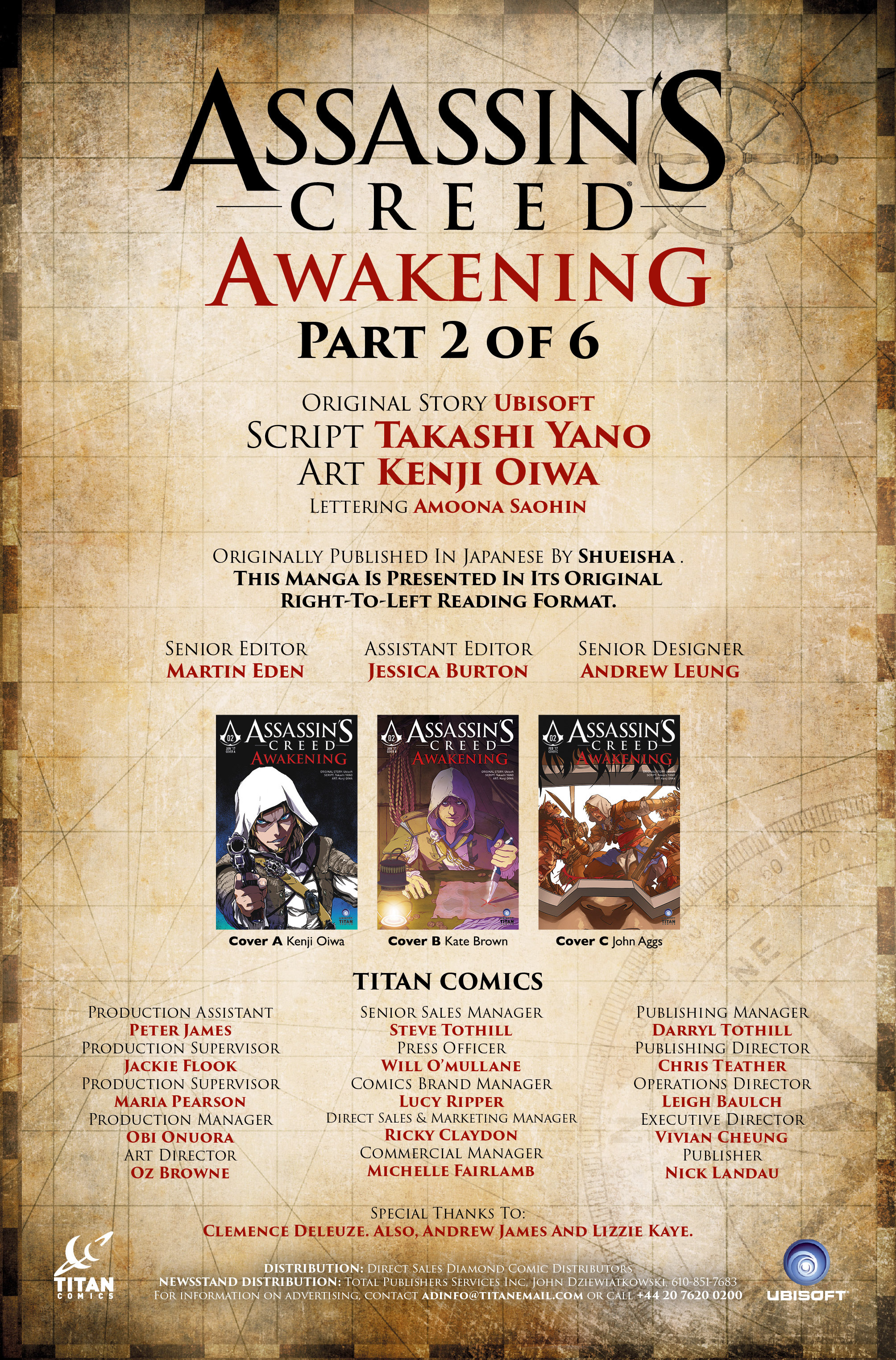 Read online Assassin's Creed: Awakening comic -  Issue #2 - 2