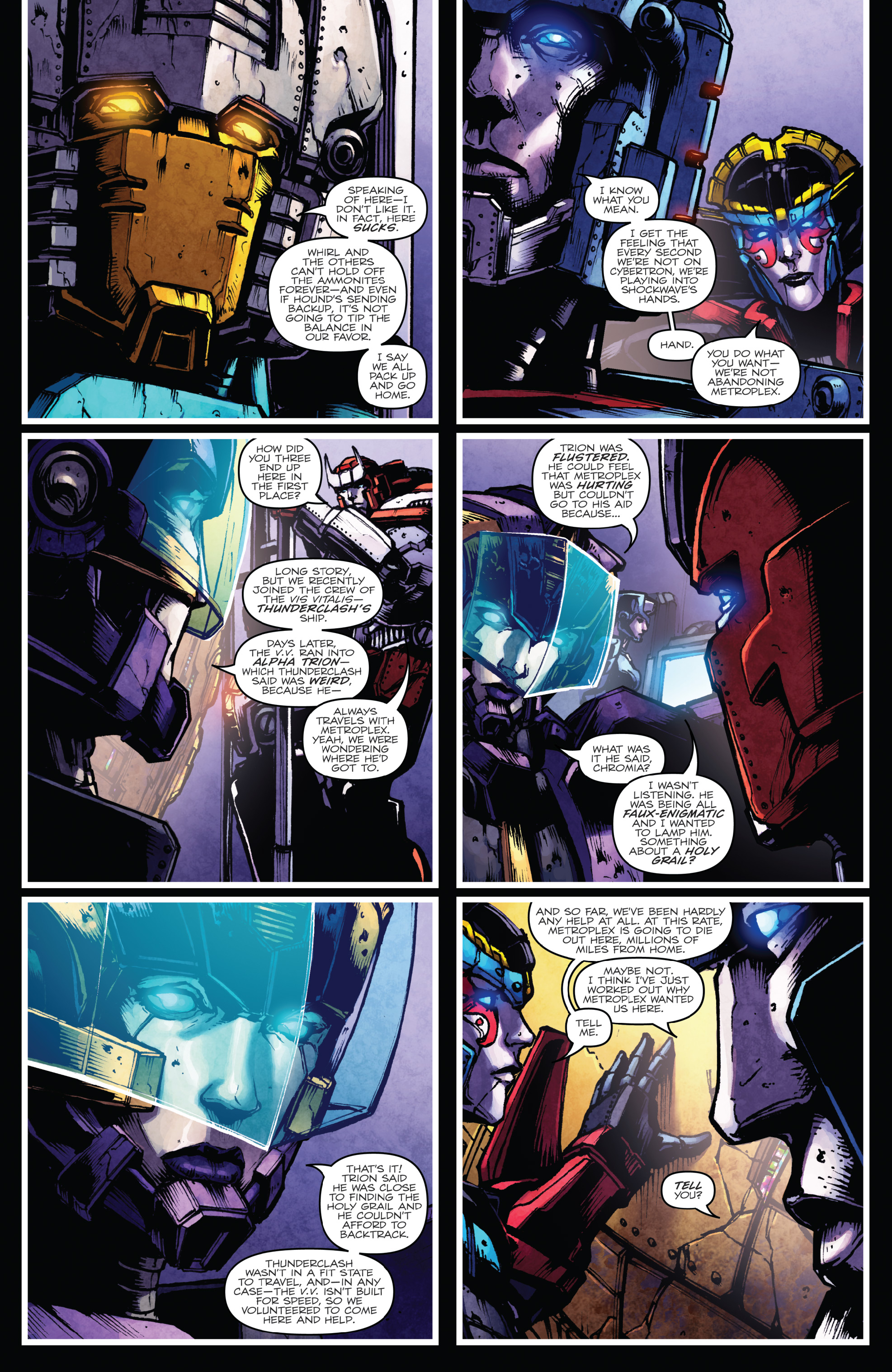 Read online The Transformers: Dark Cybertron Finale comic -  Issue # Full - 44
