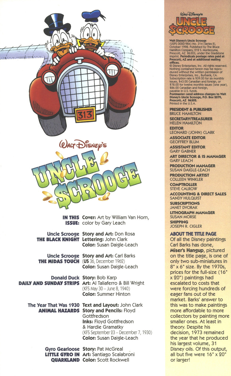 Uncle Scrooge (1953) Issue #314 #314 - English 4