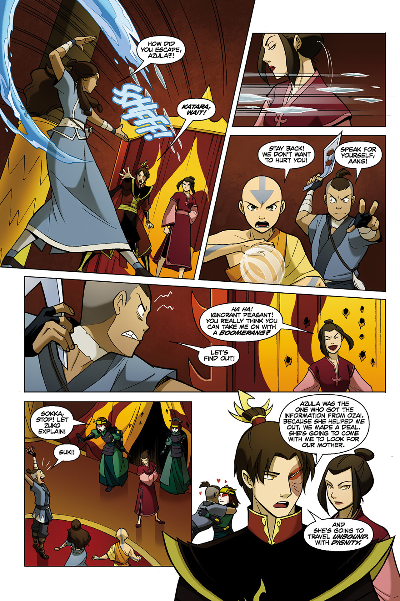 Read online Nickelodeon Avatar: The Last Airbender - The Search comic -  Issue # Part 1 - 38
