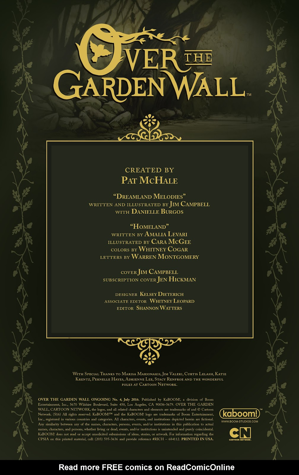 Over the Garden Wall (2016) Issue #4 #4 - English 2