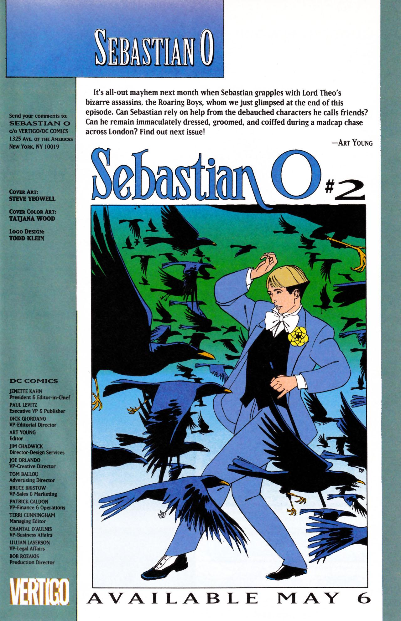 Read online Sebastian O comic -  Issue #1 - 31