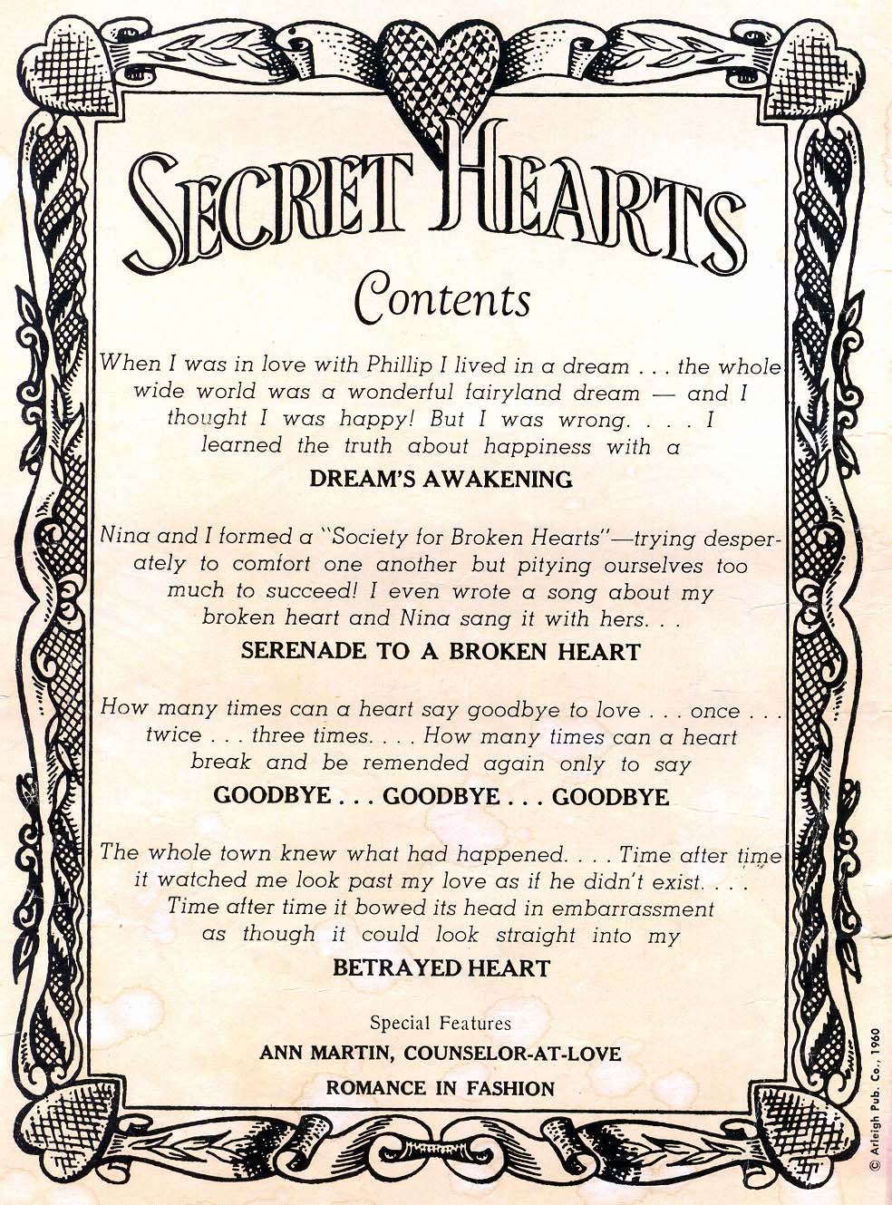 Read online Secret Hearts comic -  Issue #65 - 2